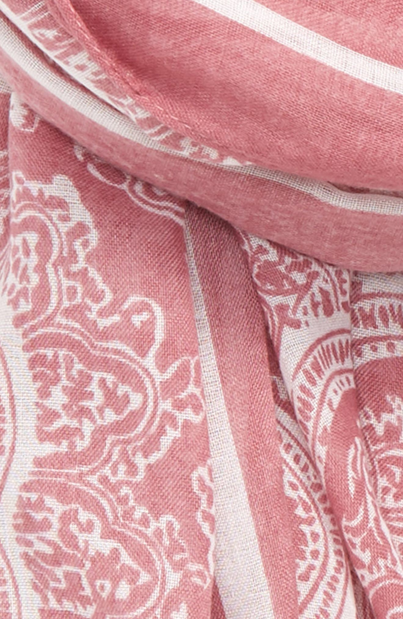 Paisley Scarf,                             Alternate thumbnail 3, color,                             Orchid