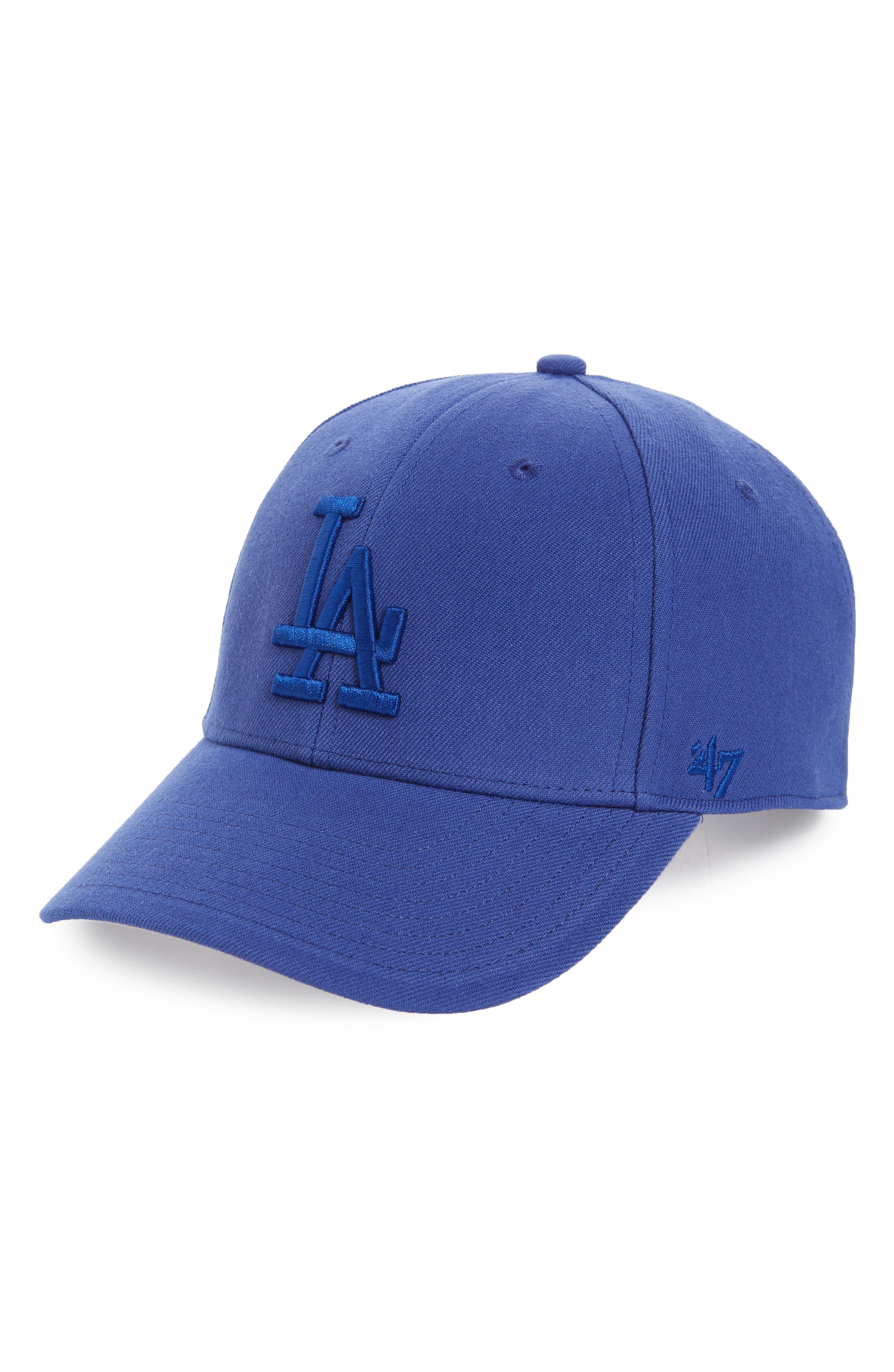 MVP LA Dodgers Baseball Cap,                         Main,                         color, Royal