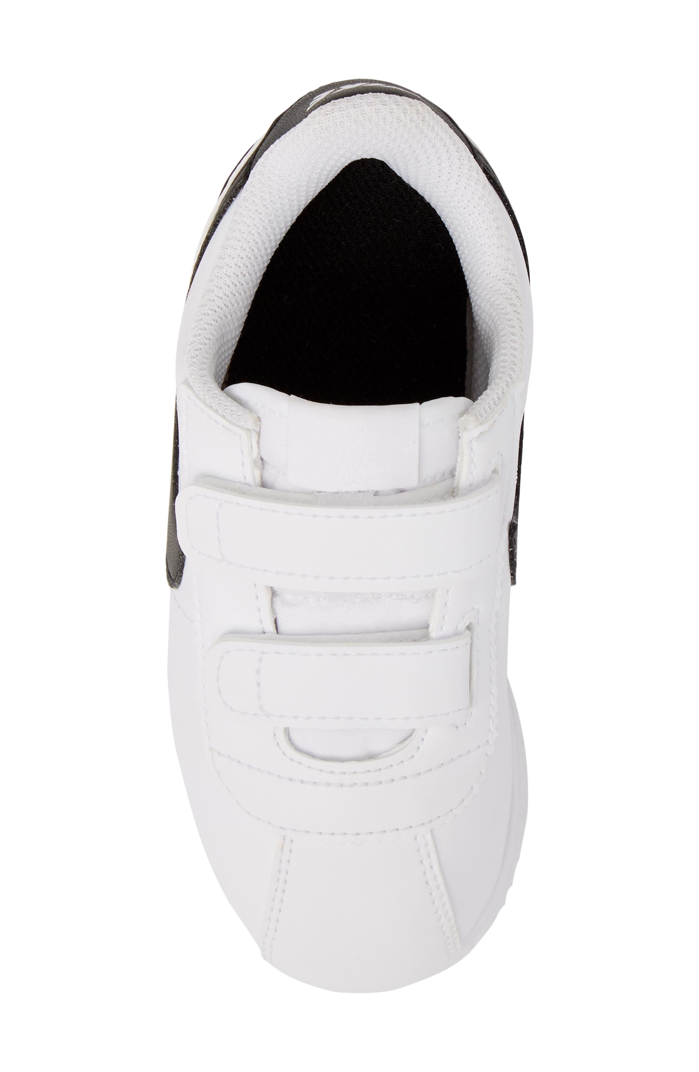 Cortez Basic SL Sneaker,                             Alternate thumbnail 5, color,                             White/ Black