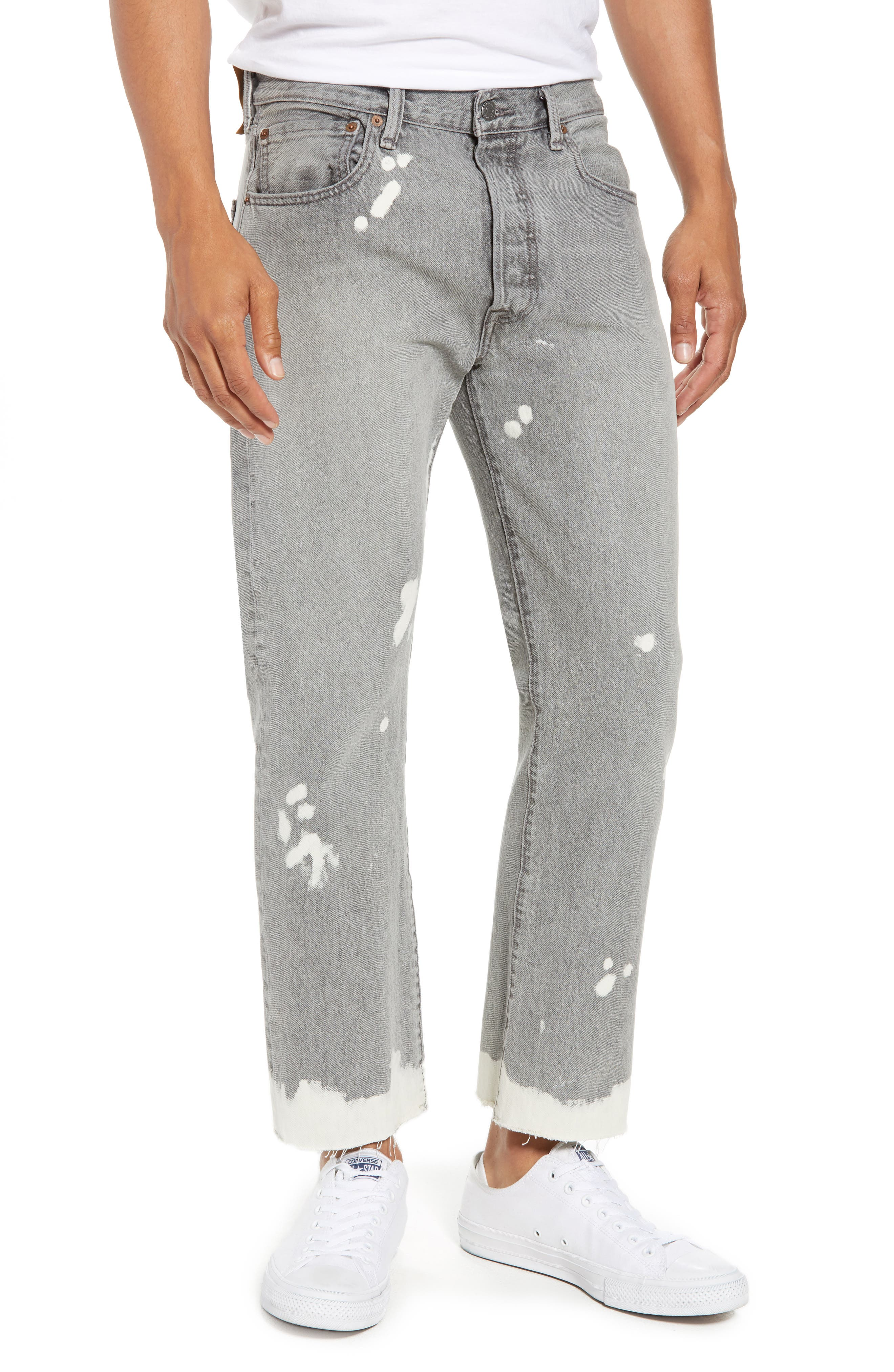 501<sup>™</sup> Straight Leg Jeans,                             Main thumbnail 1, color,                             Harris