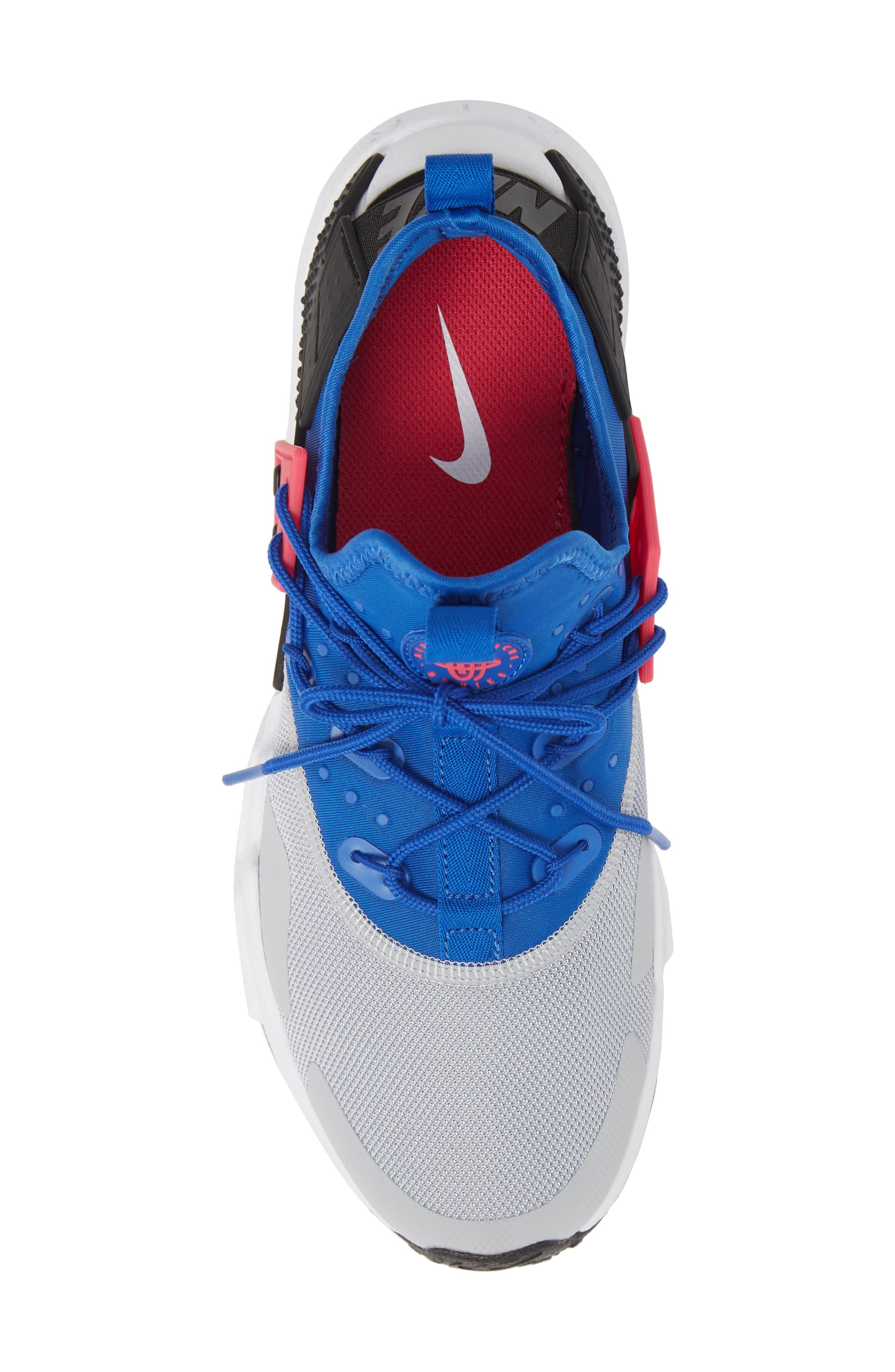 Air Huarache Drift Sneaker,                             Alternate thumbnail 5, color,                             Game Royal/ White/ Wolf Grey