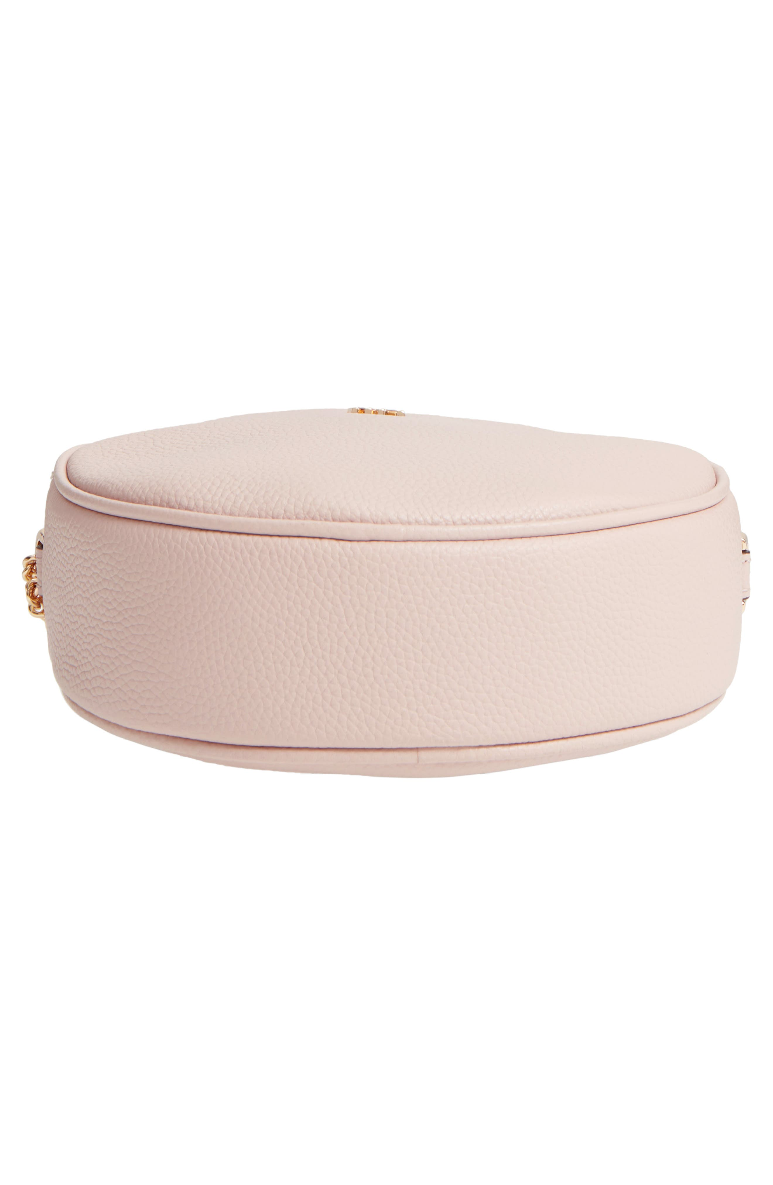 Medium Leather Canteen Bag,                             Alternate thumbnail 6, color,                             Soft Pink