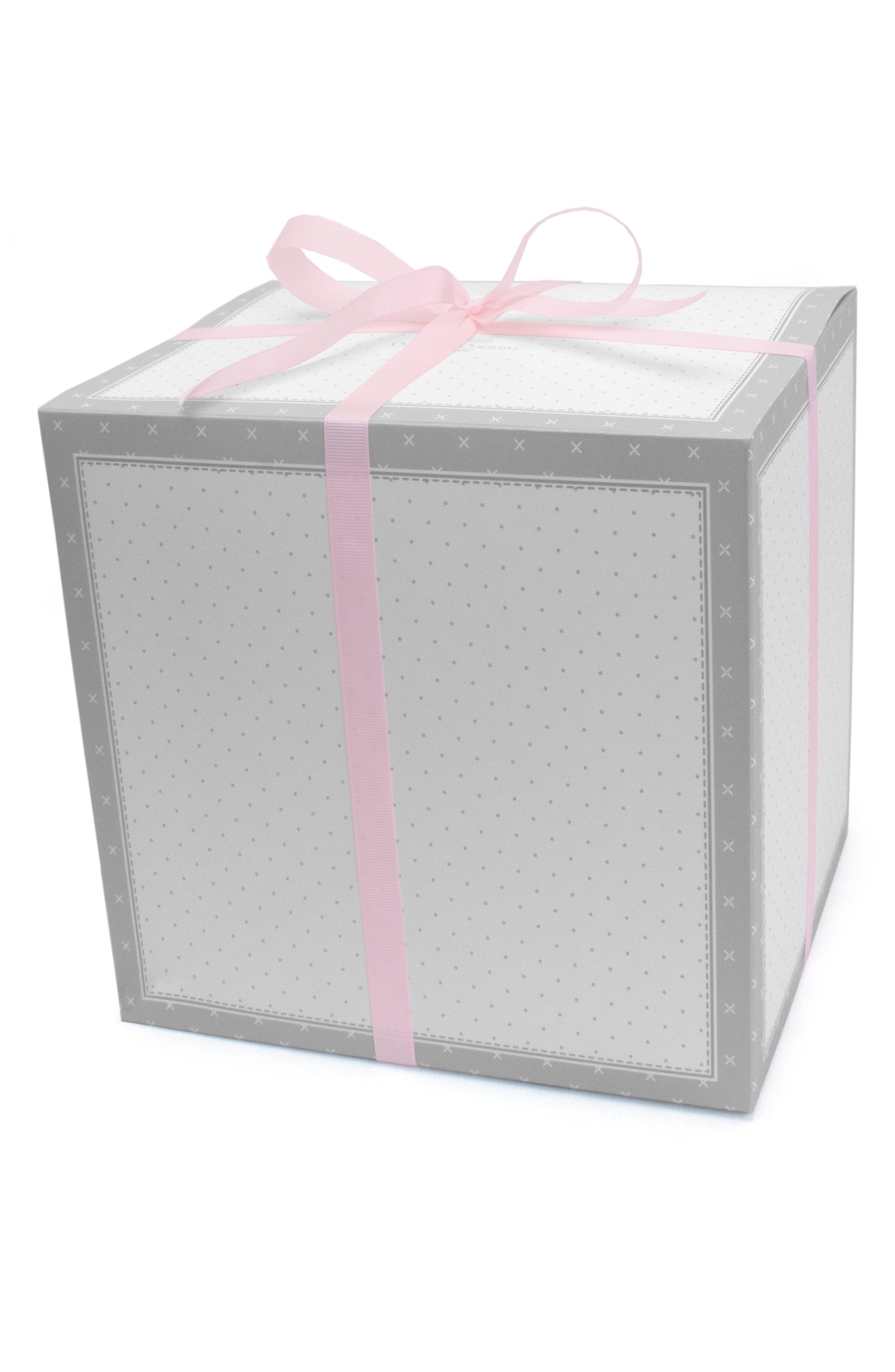 Pink Heart Goldilocks Swaddle, Handprint & Photo Block Gift Set,                             Alternate thumbnail 2, color,                             Pink Heart