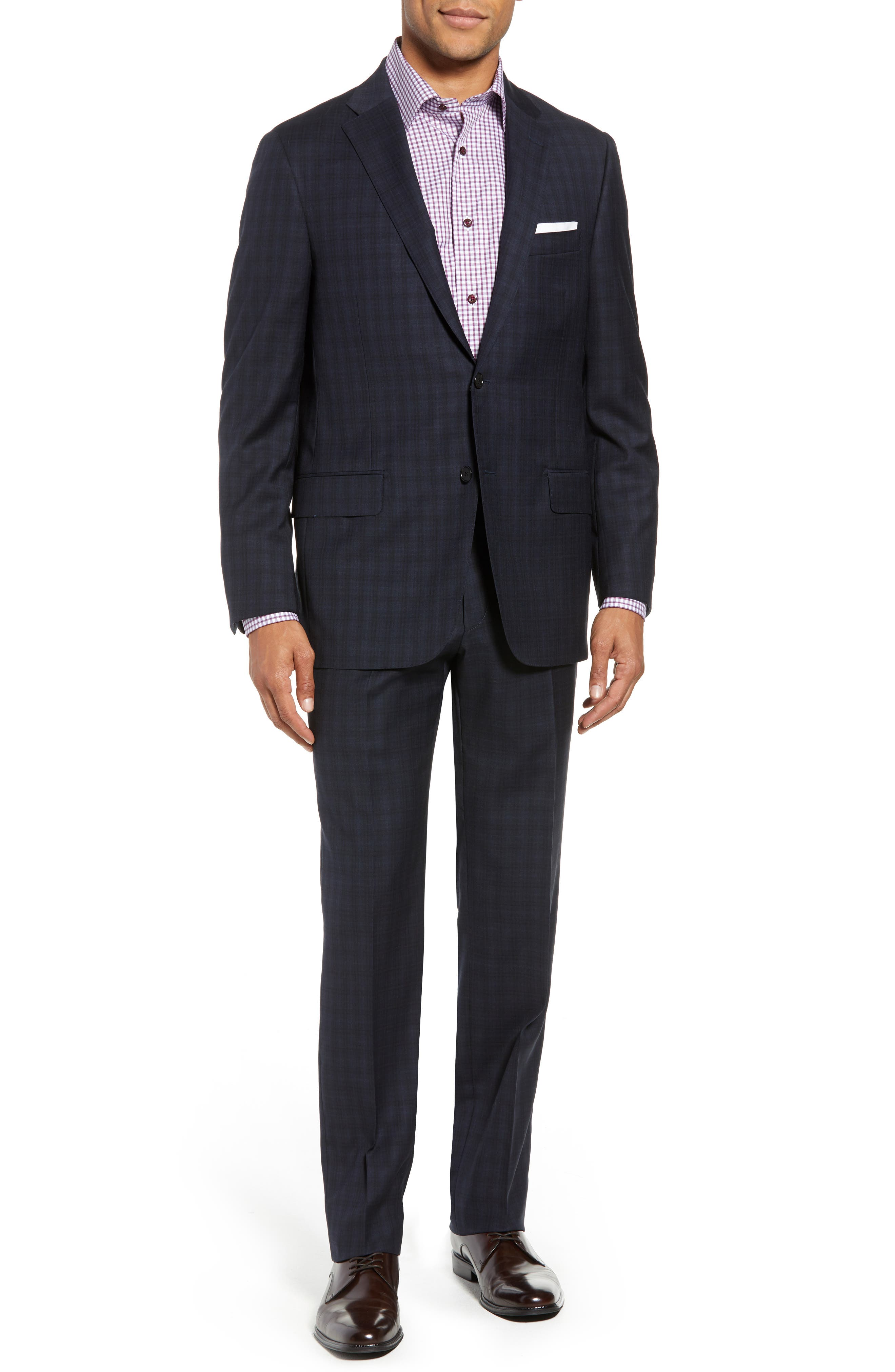 HICKEY FREEMAN CLASSIC FIT CHECK WOOL SUIT
