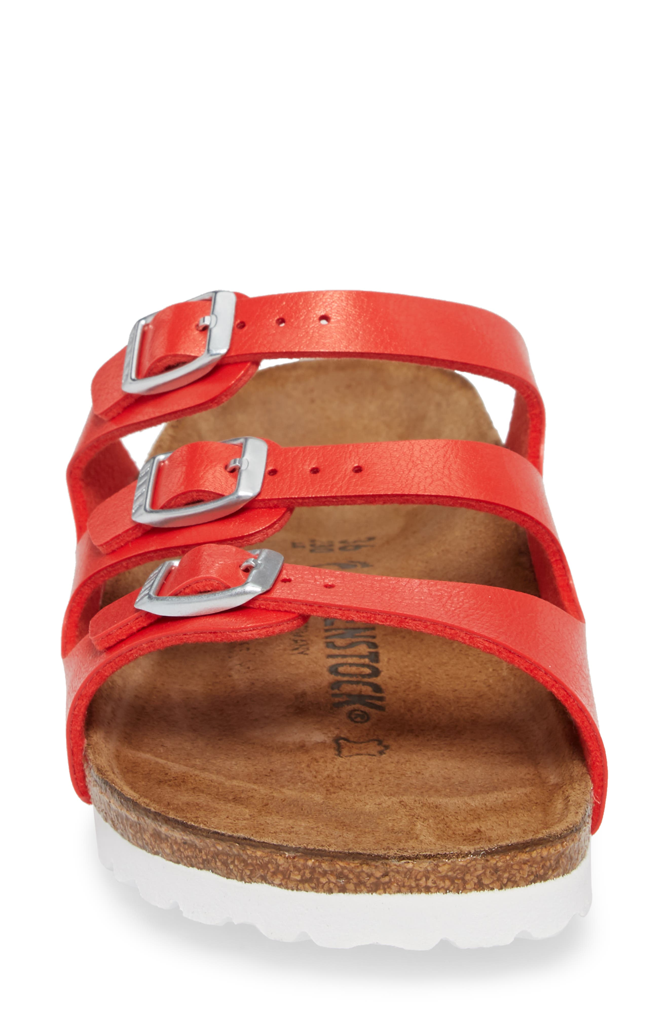 'Florida' Soft Footbed Sandal,                             Alternate thumbnail 4, color,                             Graceful Hibiscus Leather