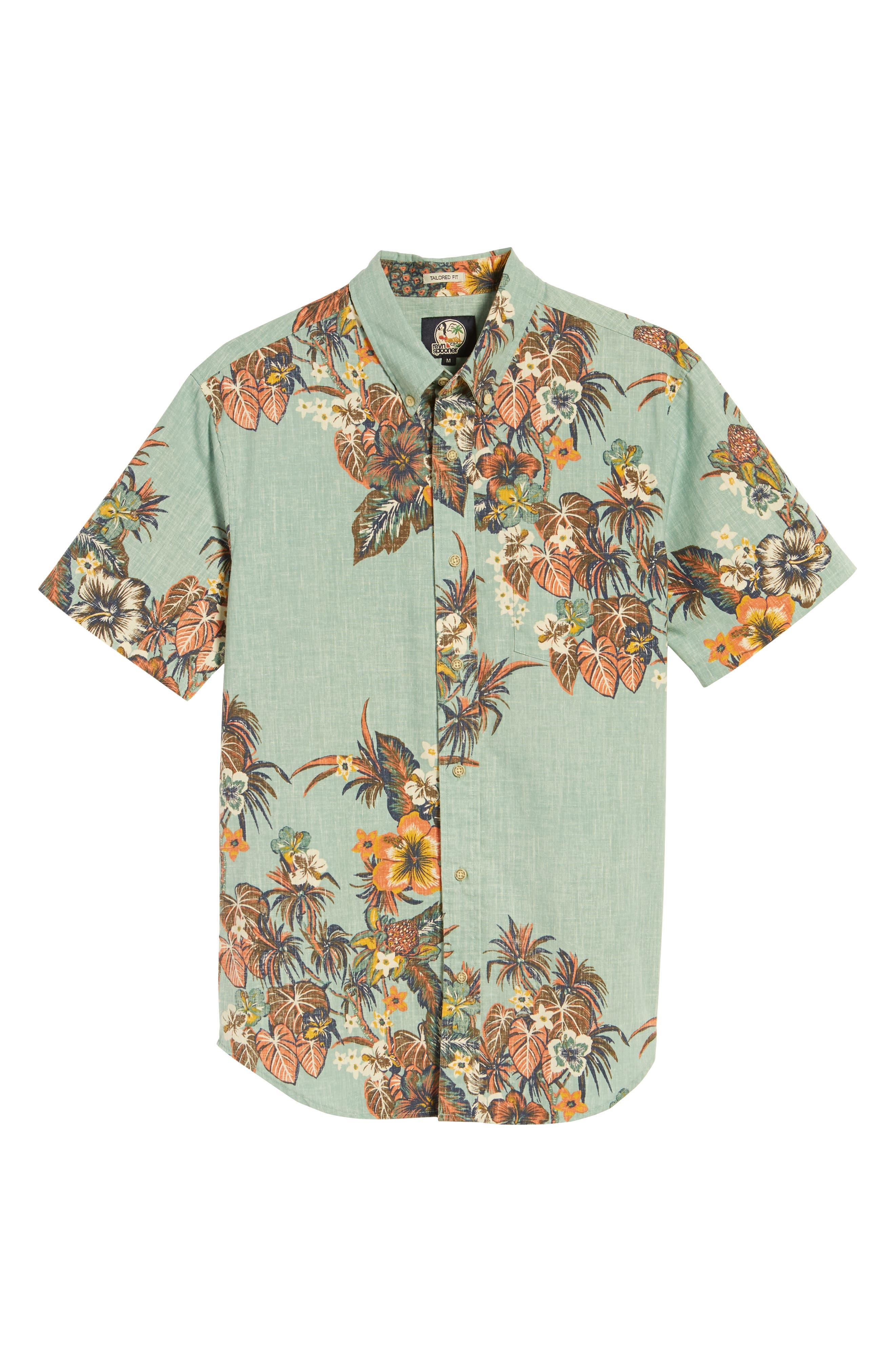 Pupas & Mai Tais Regular Fit Sport Shirt,                             Alternate thumbnail 6, color,                             Blue