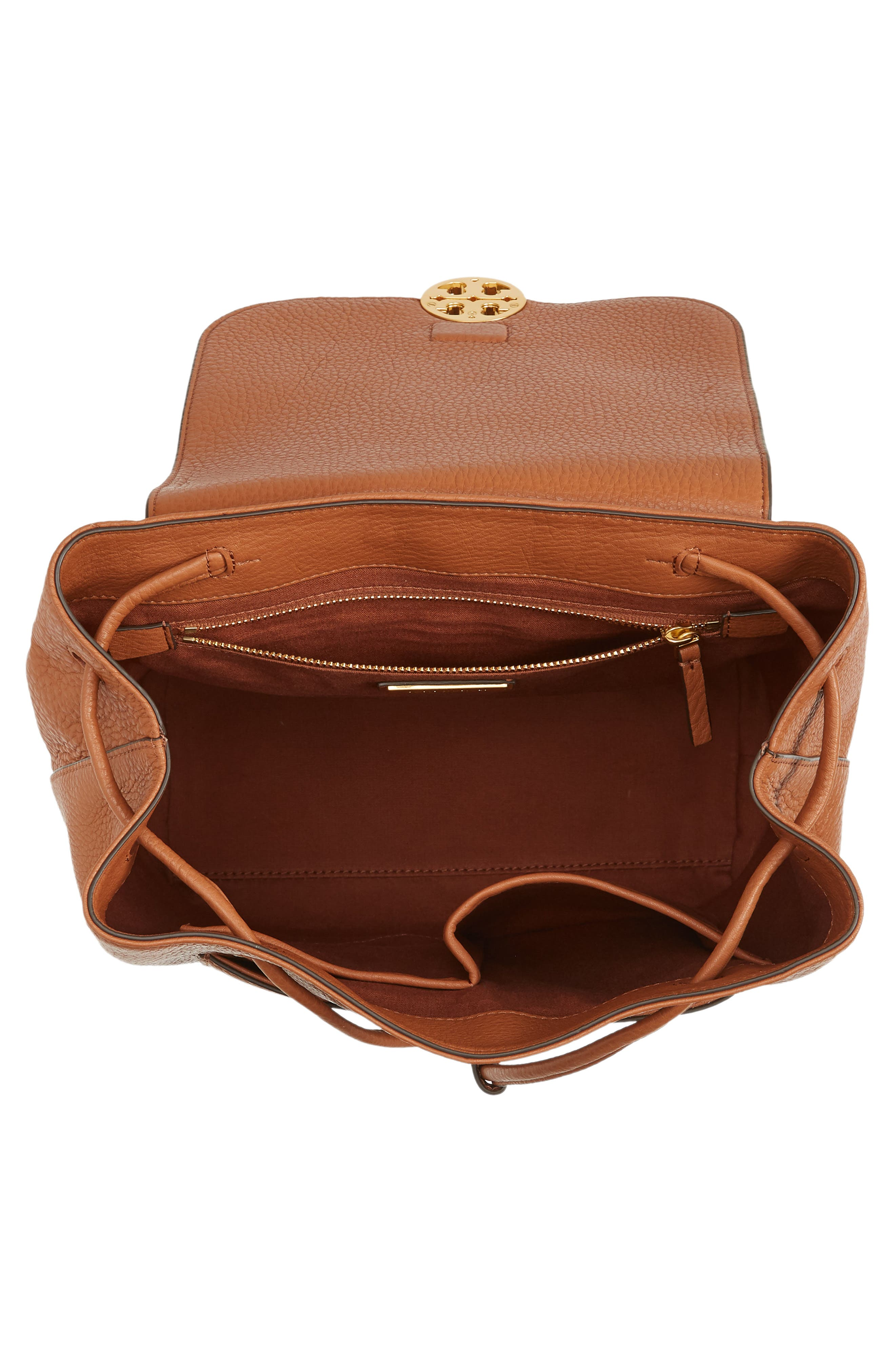 Chelsea Leather Backpack,                             Alternate thumbnail 4, color,                             Classic Tan