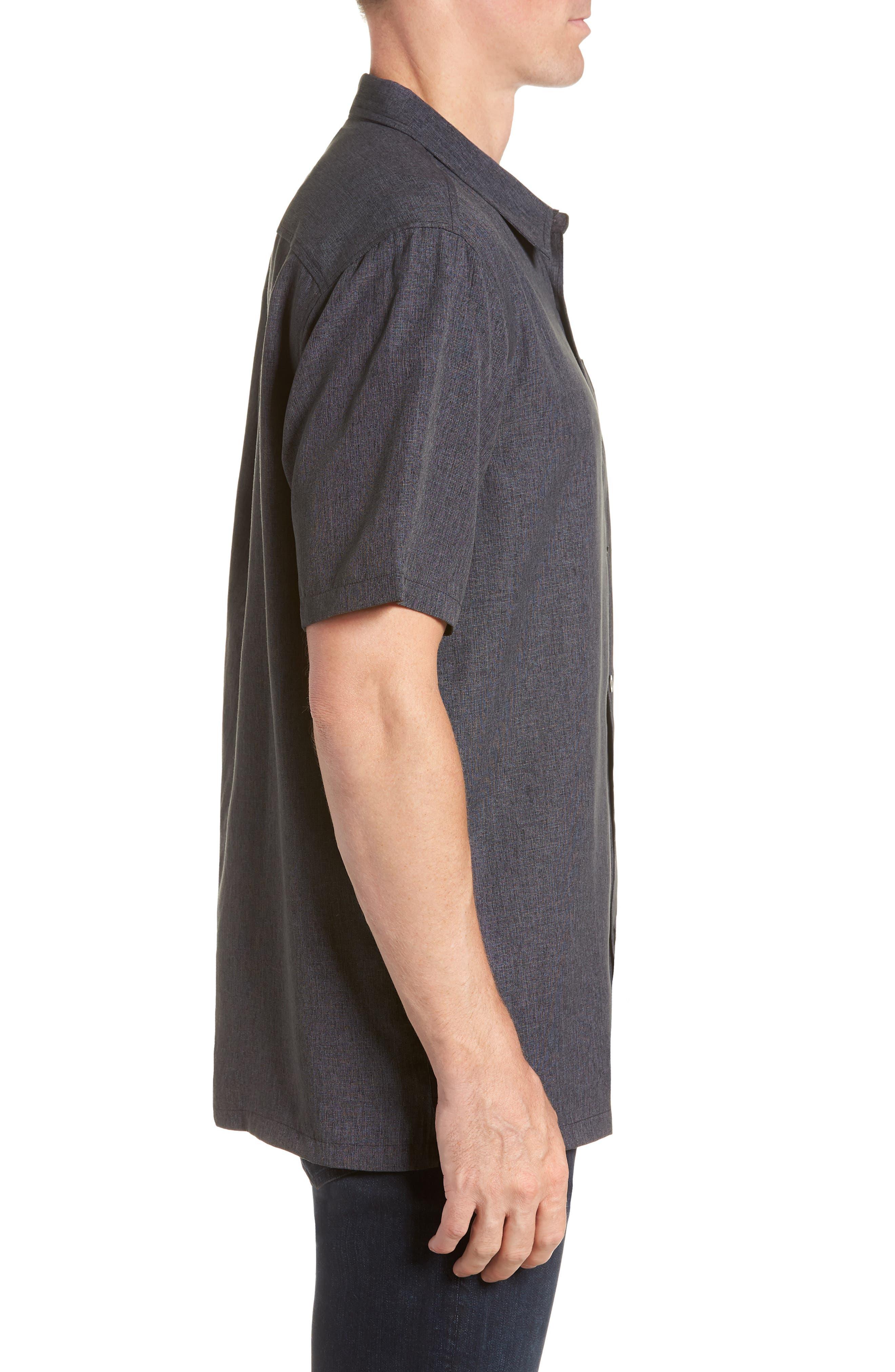 Liberty Regular Fit Short Sleeve Sport Shirt,                             Alternate thumbnail 4, color,                             Light Grey