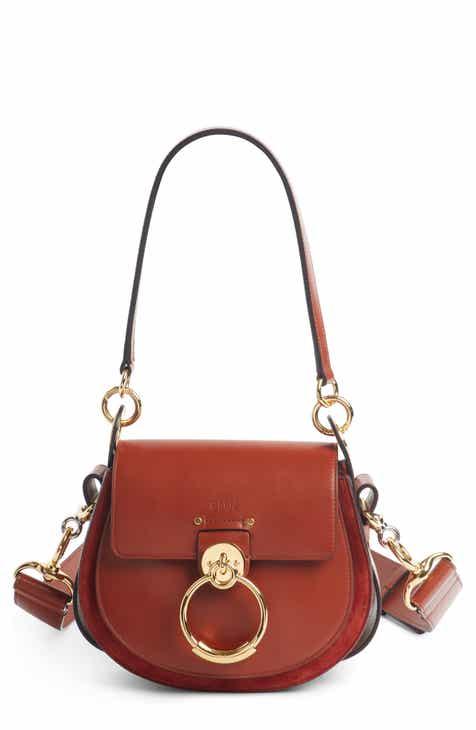 Chloé Small Tess Calfskin Leather Shoulder Bag