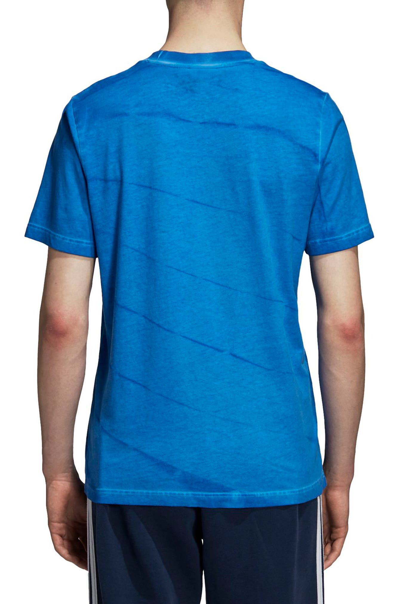 adidas Tie Dye T-Shirt,                             Alternate thumbnail 2, color,                             Bluebird