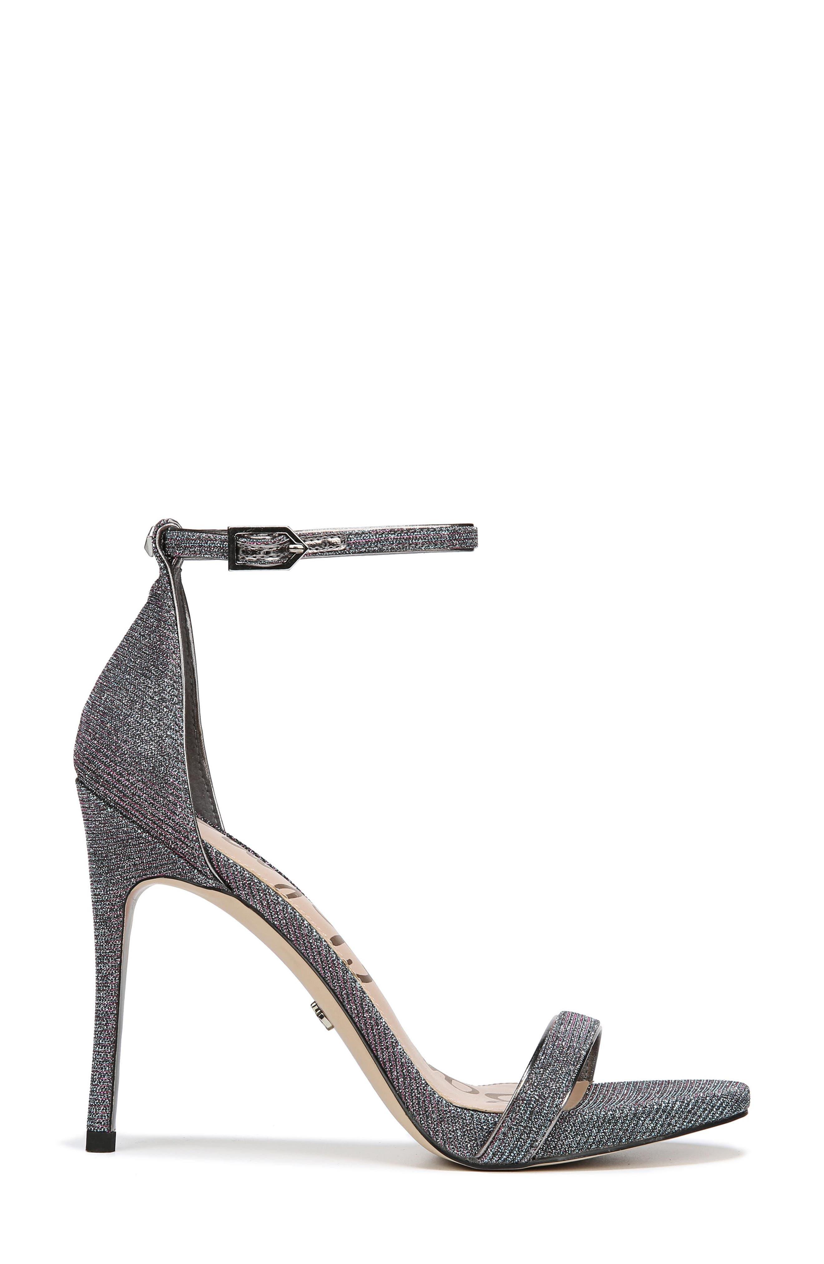 Ariella Ankle Strap Sandal,                             Alternate thumbnail 3, color,                             Pink/ Blue Multi Fabric