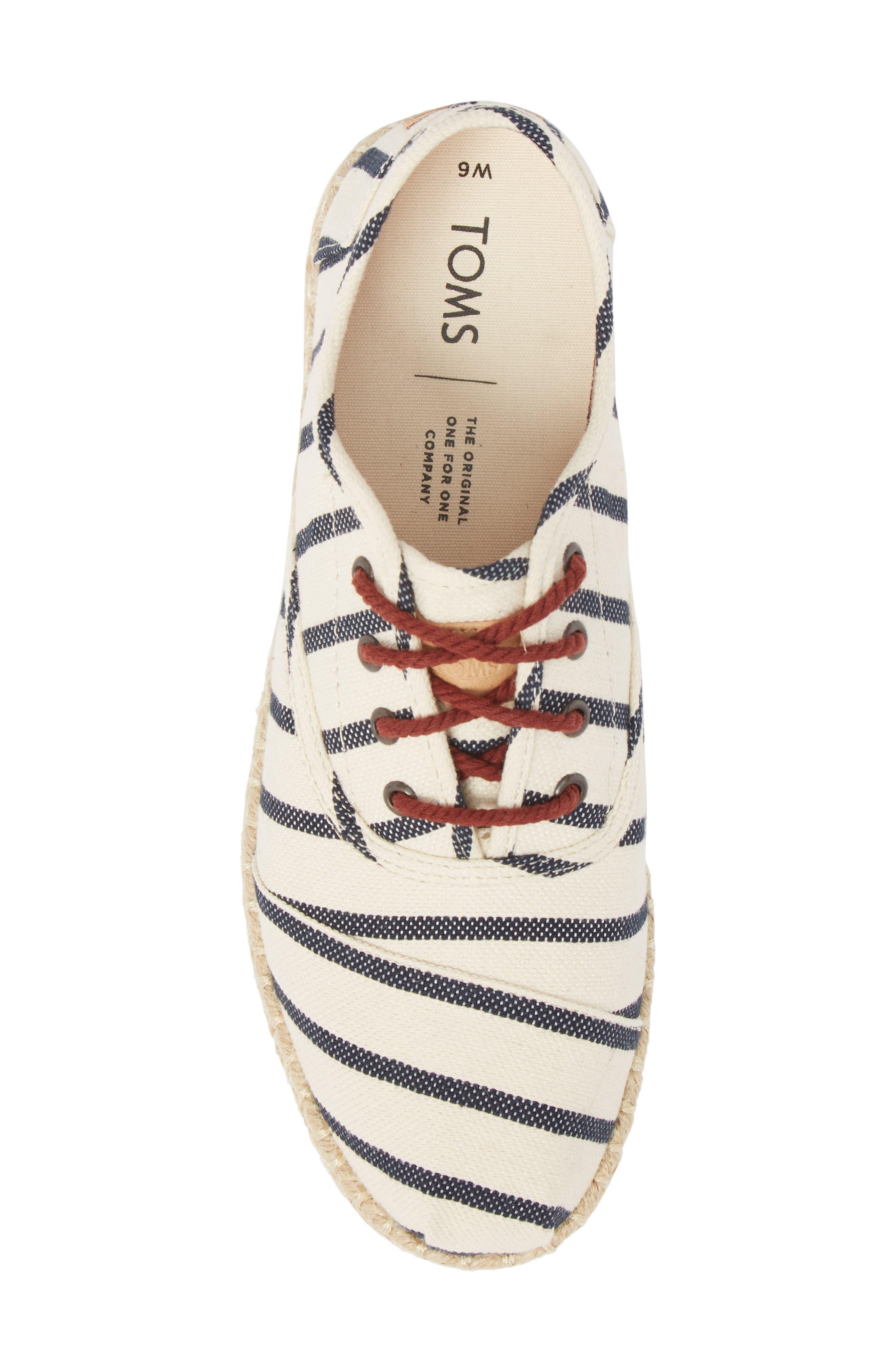 Cordones Sneaker,                             Alternate thumbnail 5, color,                             Natural Stripe Woven