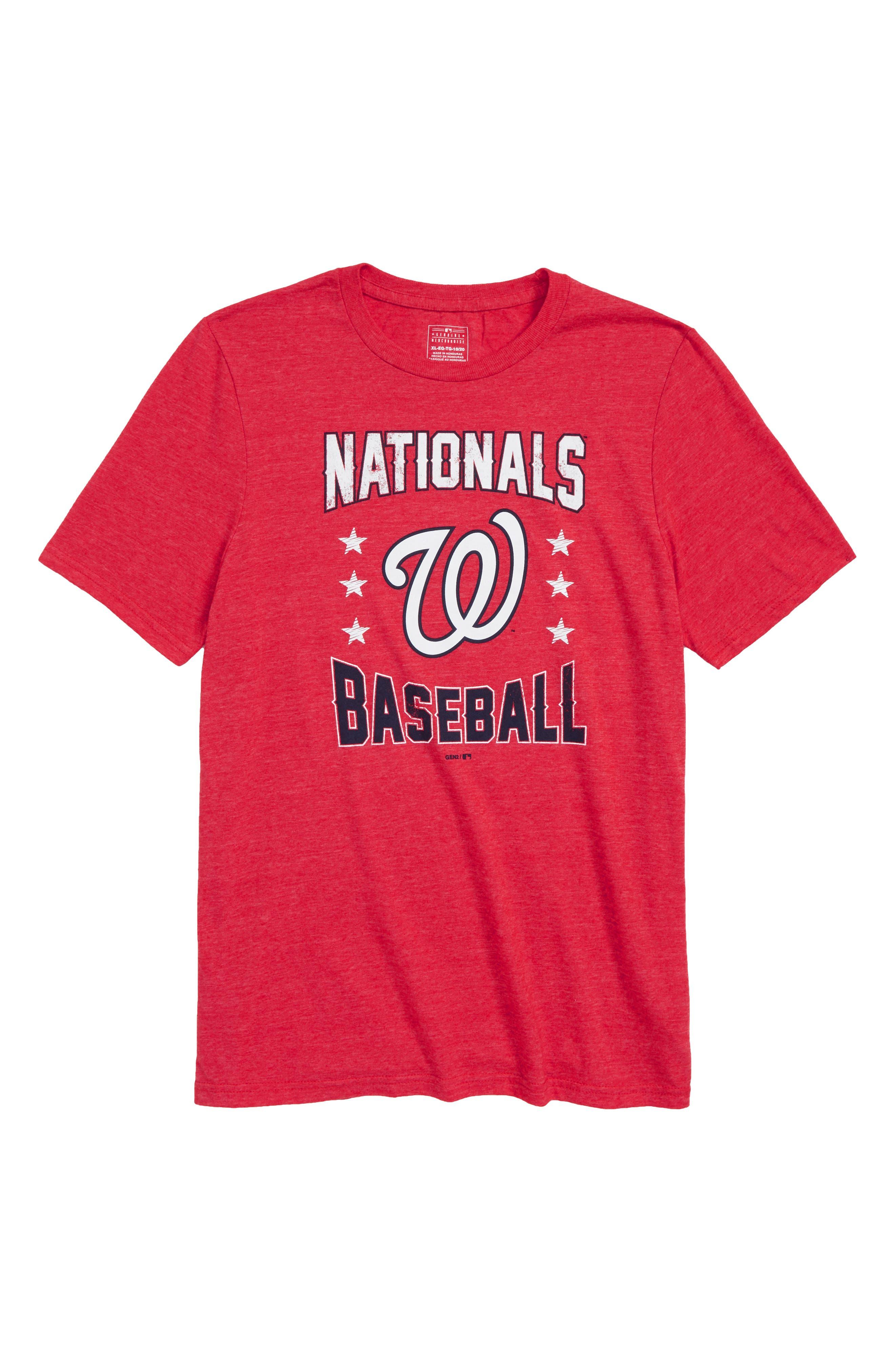 Washington Nationals Triple Play T-Shirt,                             Main thumbnail 1, color,                             Red
