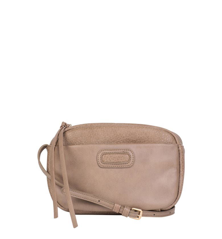 Urban Originals REBELLIOUS VEGAN LEATHER CROSSBODY BAG - BROWN