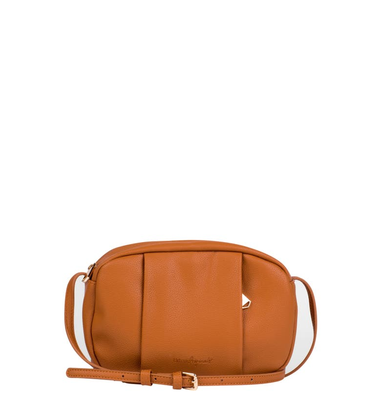 Urban Originals STORY TELLER VEGAN LEATHER CROSSBODY BAG - BROWN