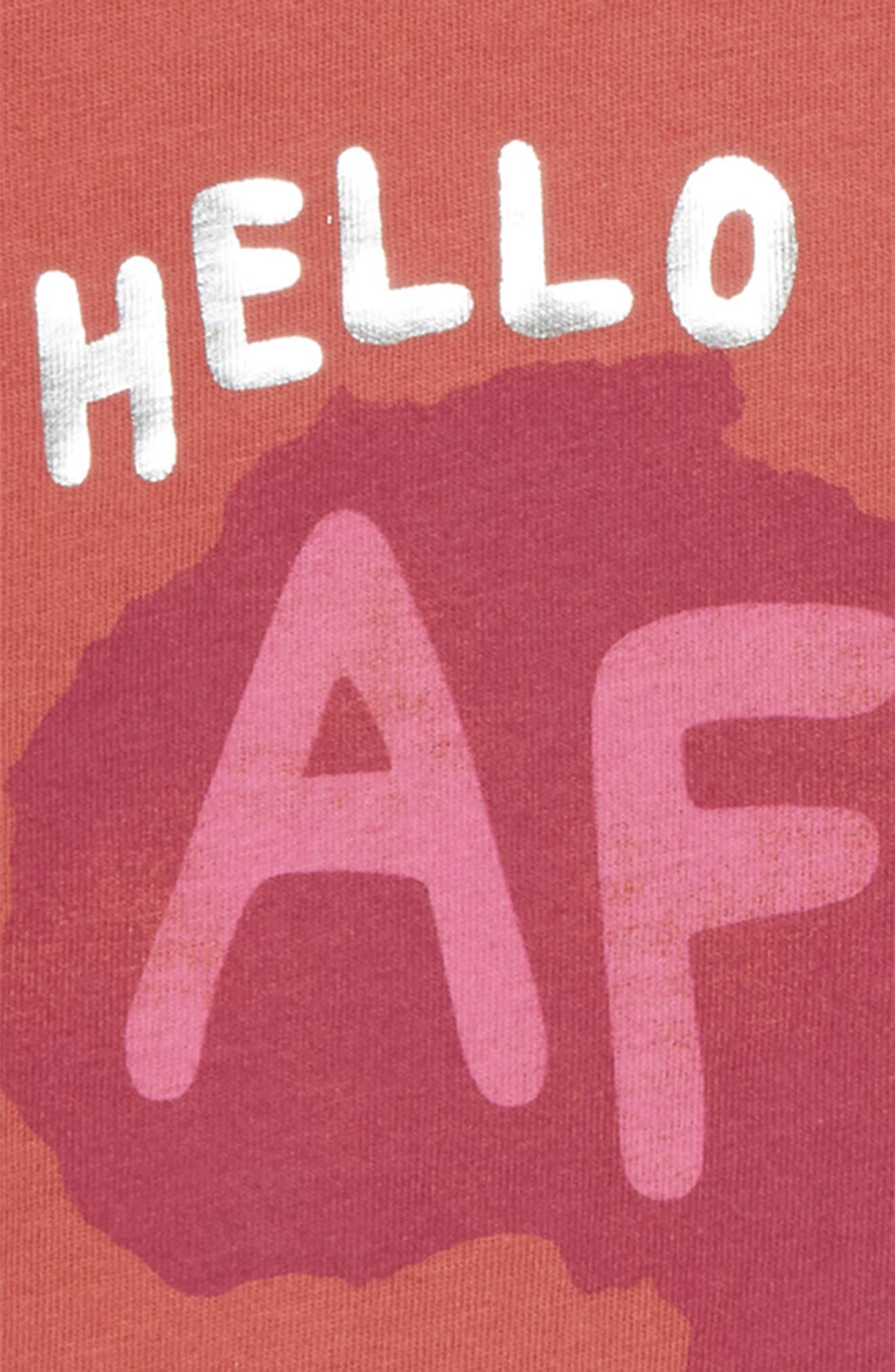 Hello From Africa Graphic Tee,                             Alternate thumbnail 3, color,                             Rust