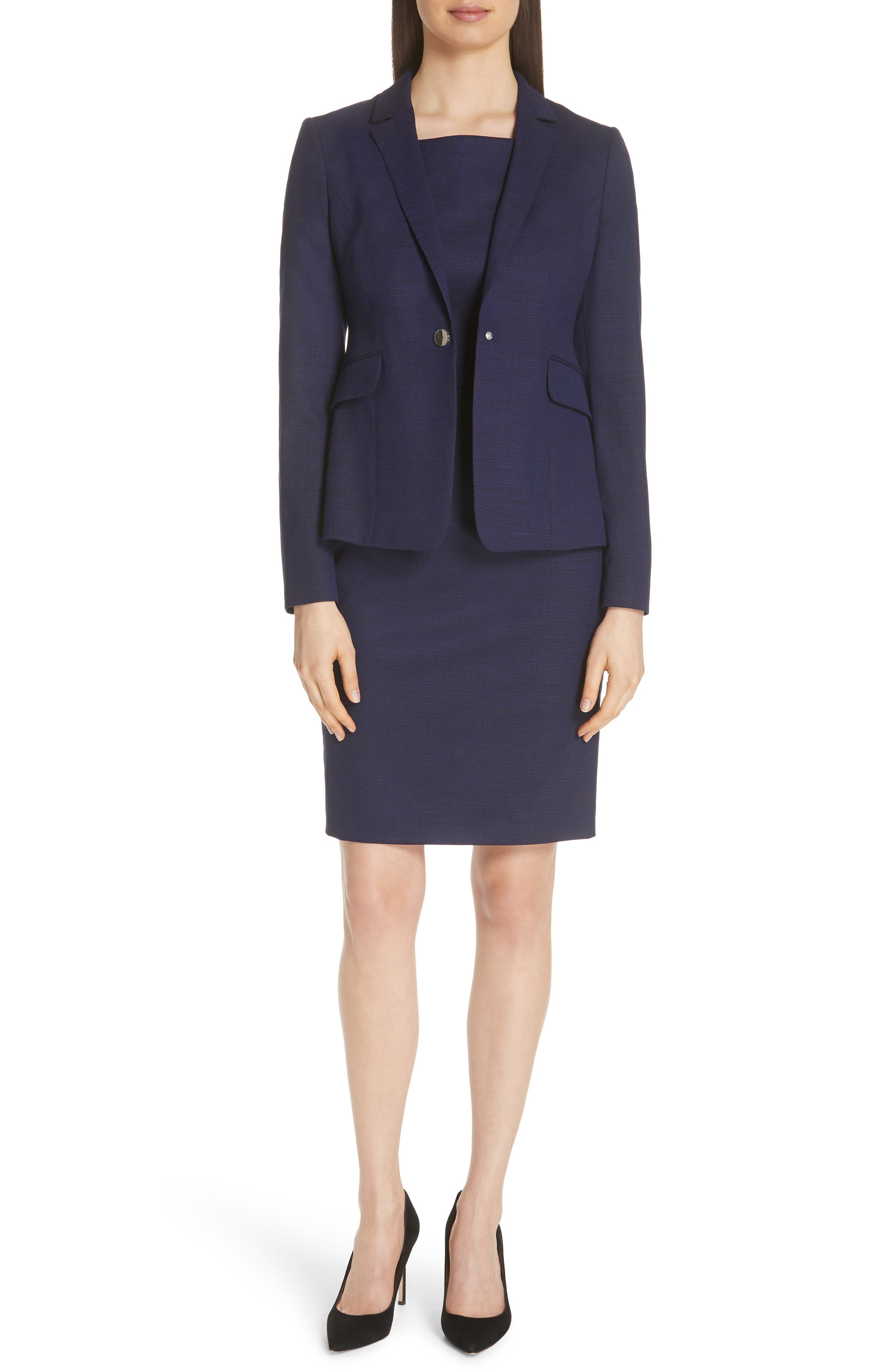 Jibalena Mini Glencheck Suit Jacket,                             Alternate thumbnail 7, color,                             Deep Lilac Fantasy