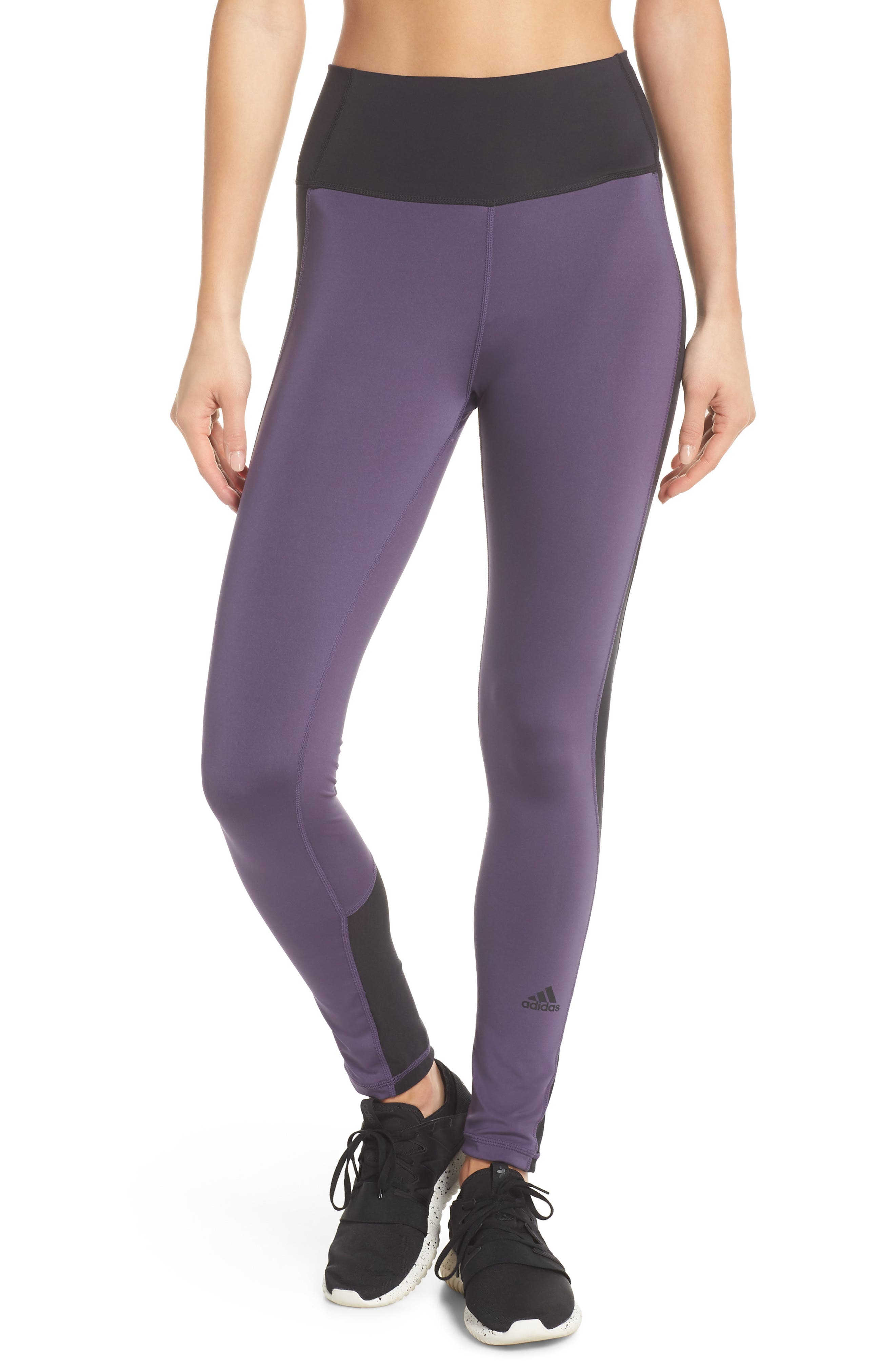 Believe This High Waist Tights,                             Main thumbnail 1, color,                             Trace Purple