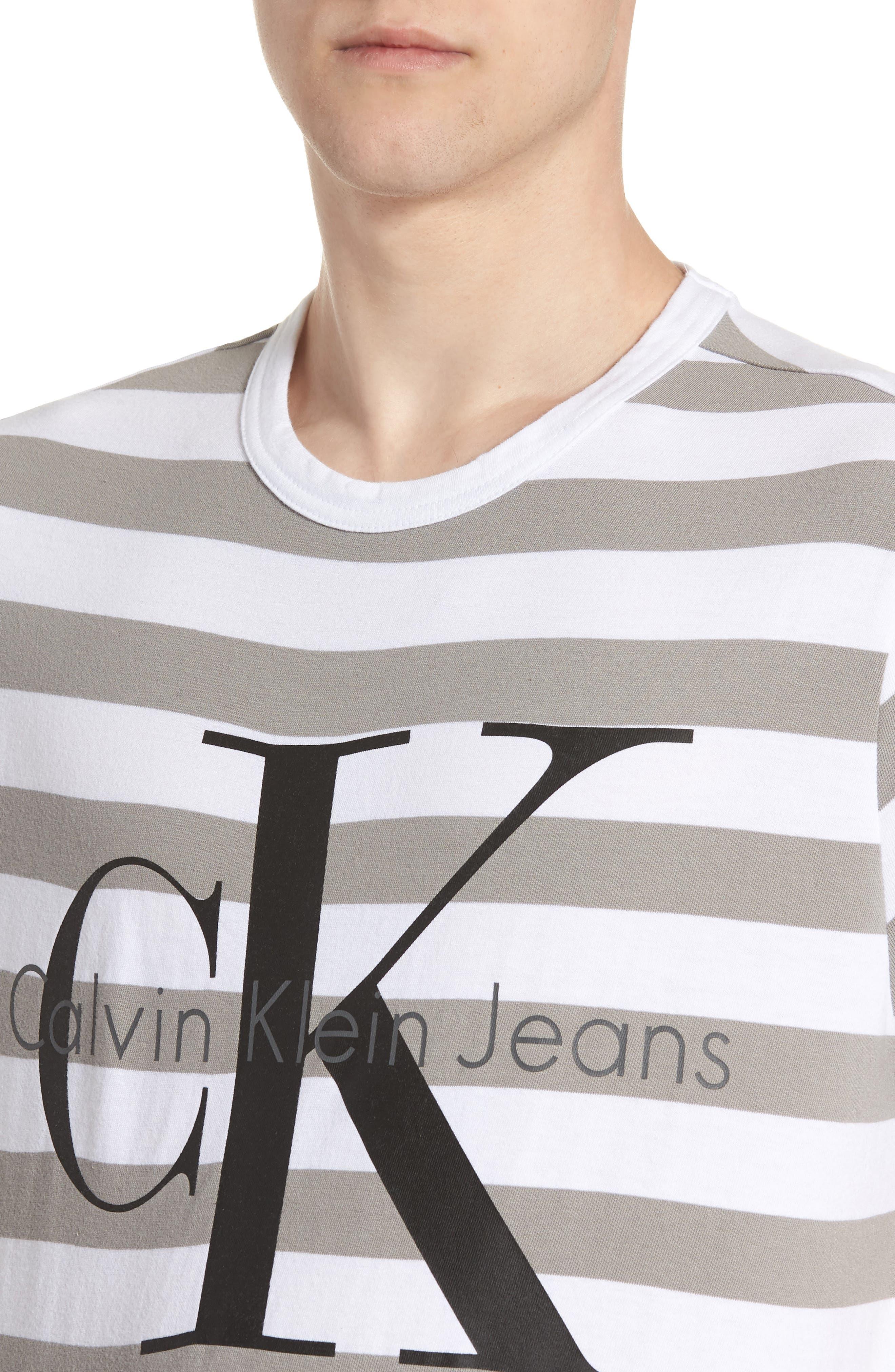Stripe Reissue T-Shirt,                             Alternate thumbnail 3, color,                             Standard White