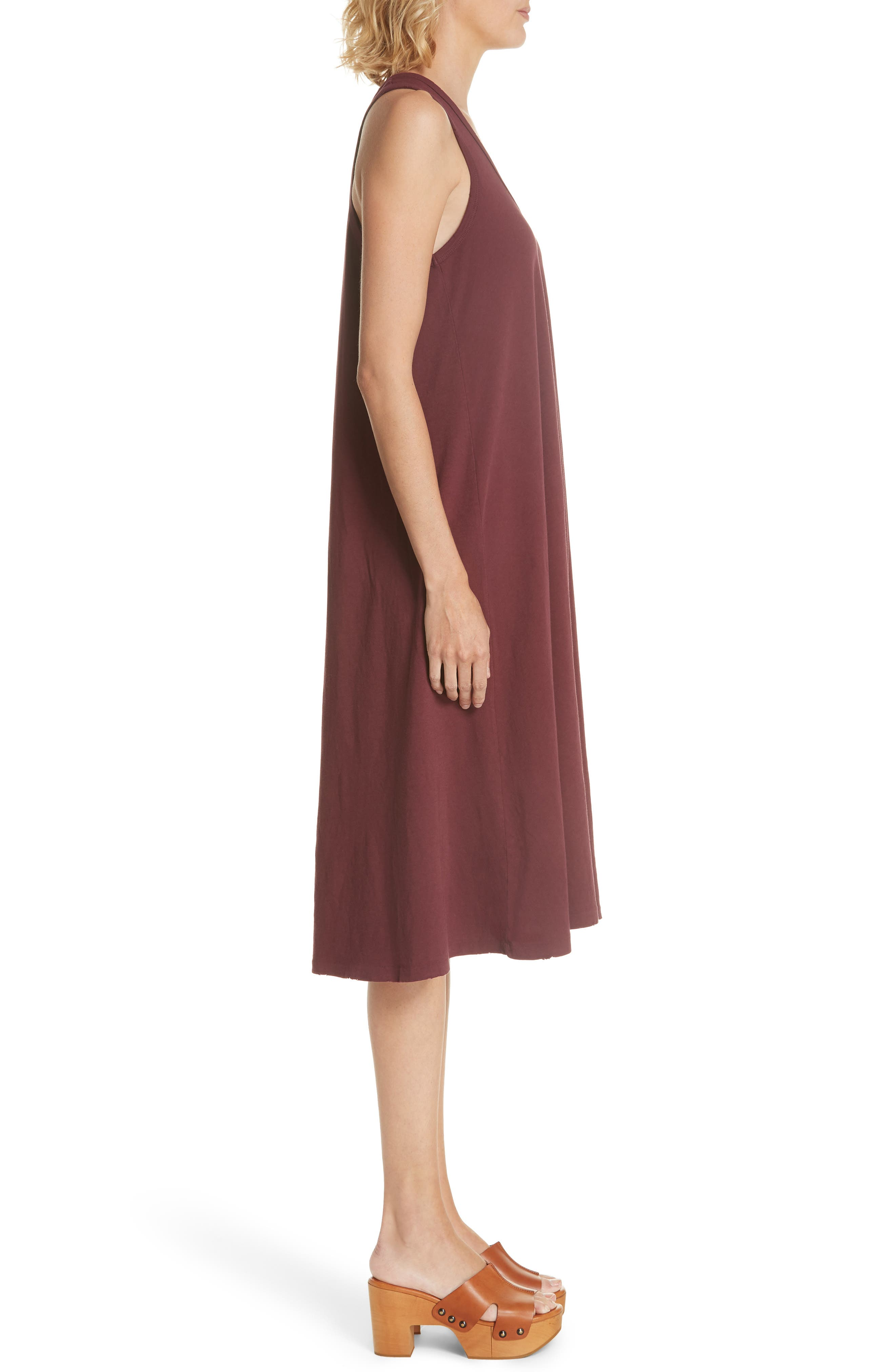 The Swing Tank Dress,                             Alternate thumbnail 3, color,                             Maroon
