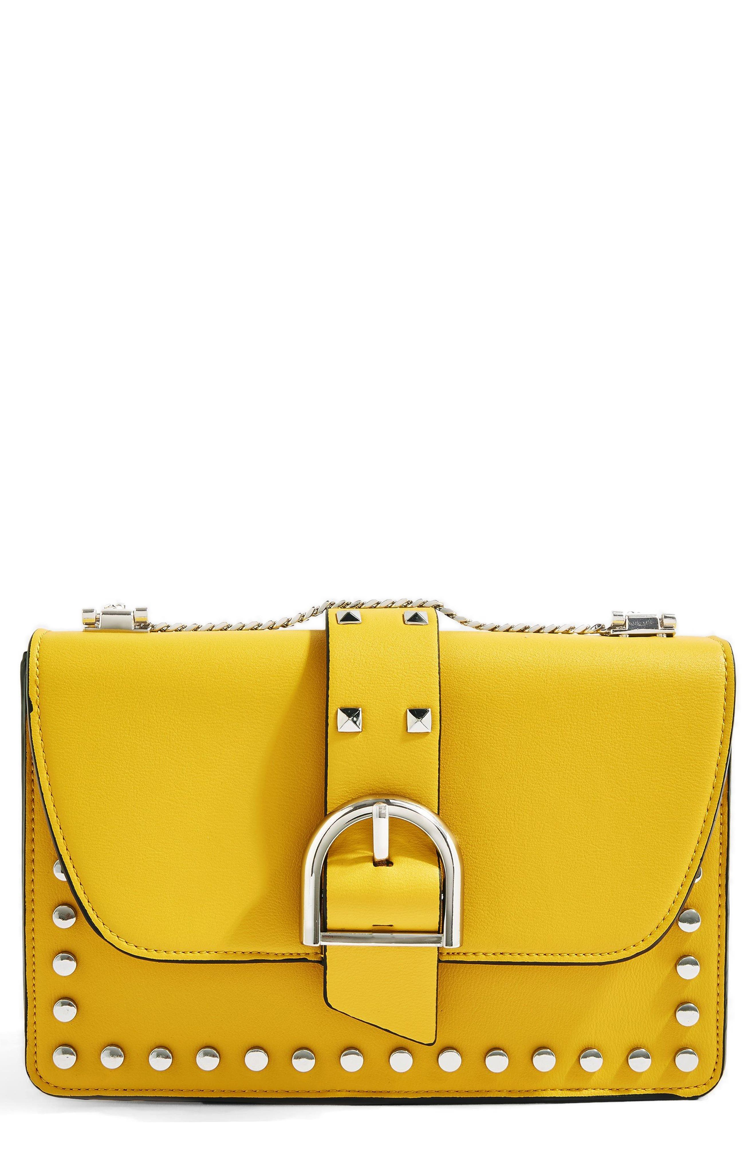 Buckle Faux Leather Crossbody Bag by Topshop