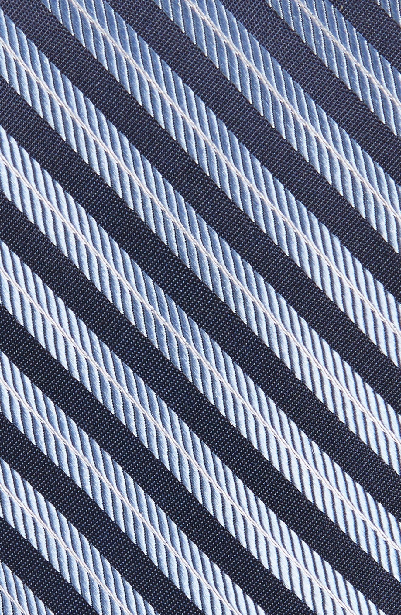 Milliner Stripe Silk Tie,                             Alternate thumbnail 2, color,                             Blue