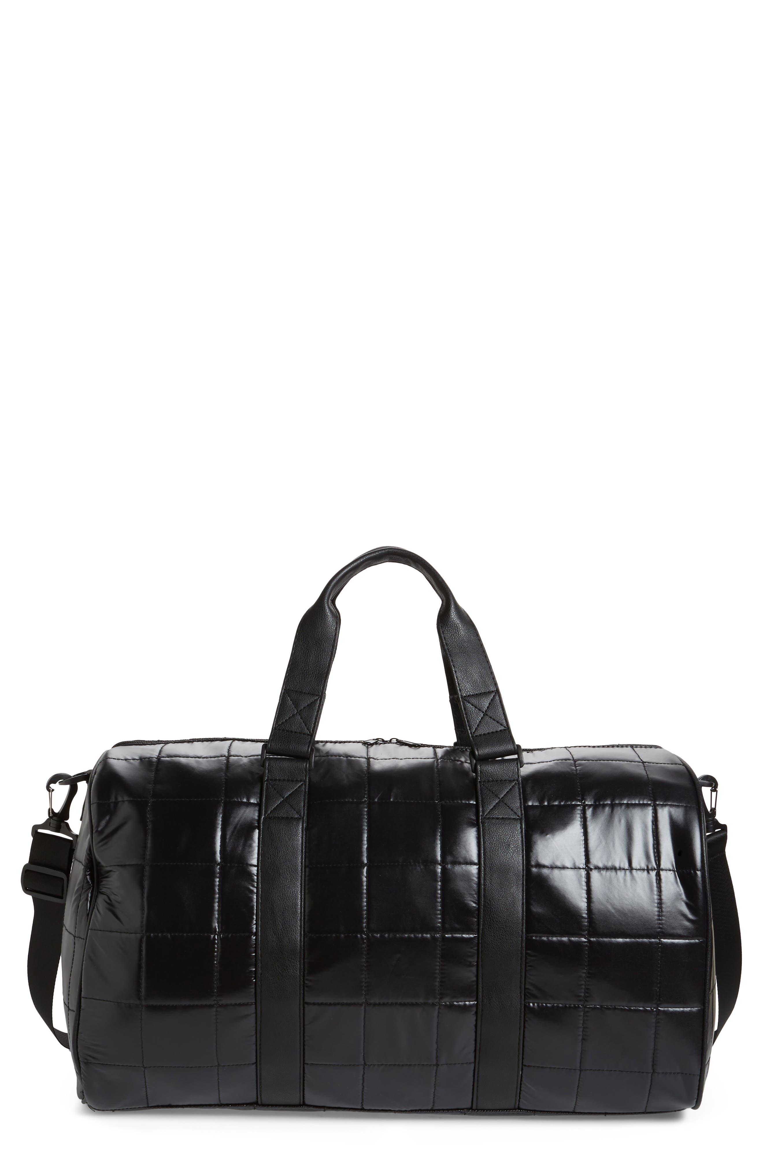 Puffer Duffel Bag,                             Main thumbnail 1, color,                             Black