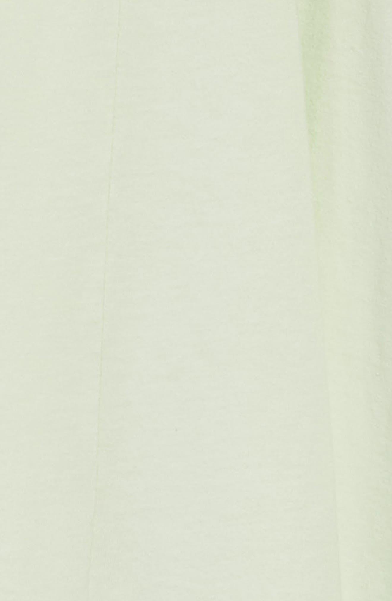 Cold Shoulder Swing Dress,                             Alternate thumbnail 3, color,                             Green