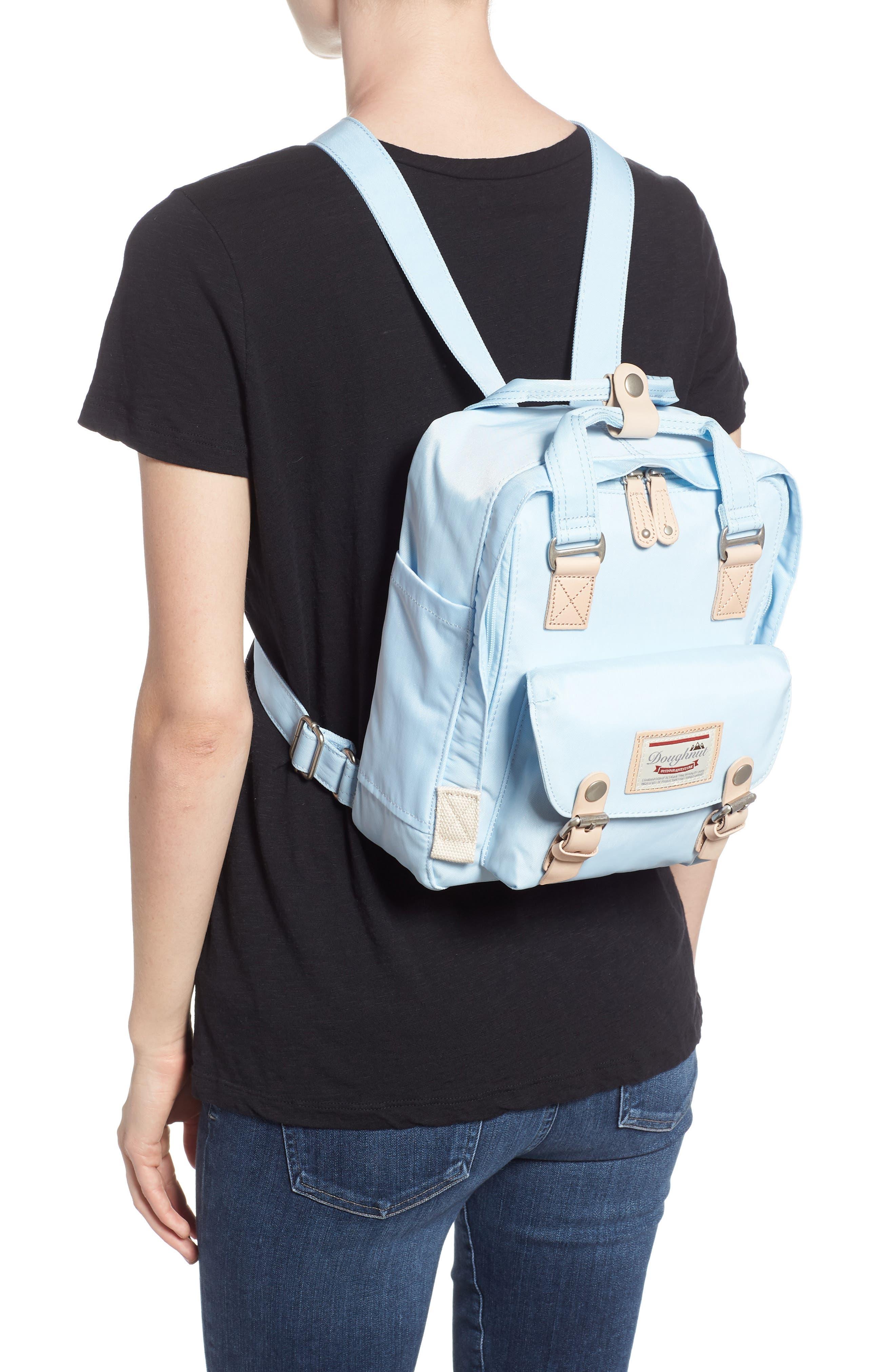 Mini Macaroon Water Resistant Backpack,                             Alternate thumbnail 2, color,                             Iceberg