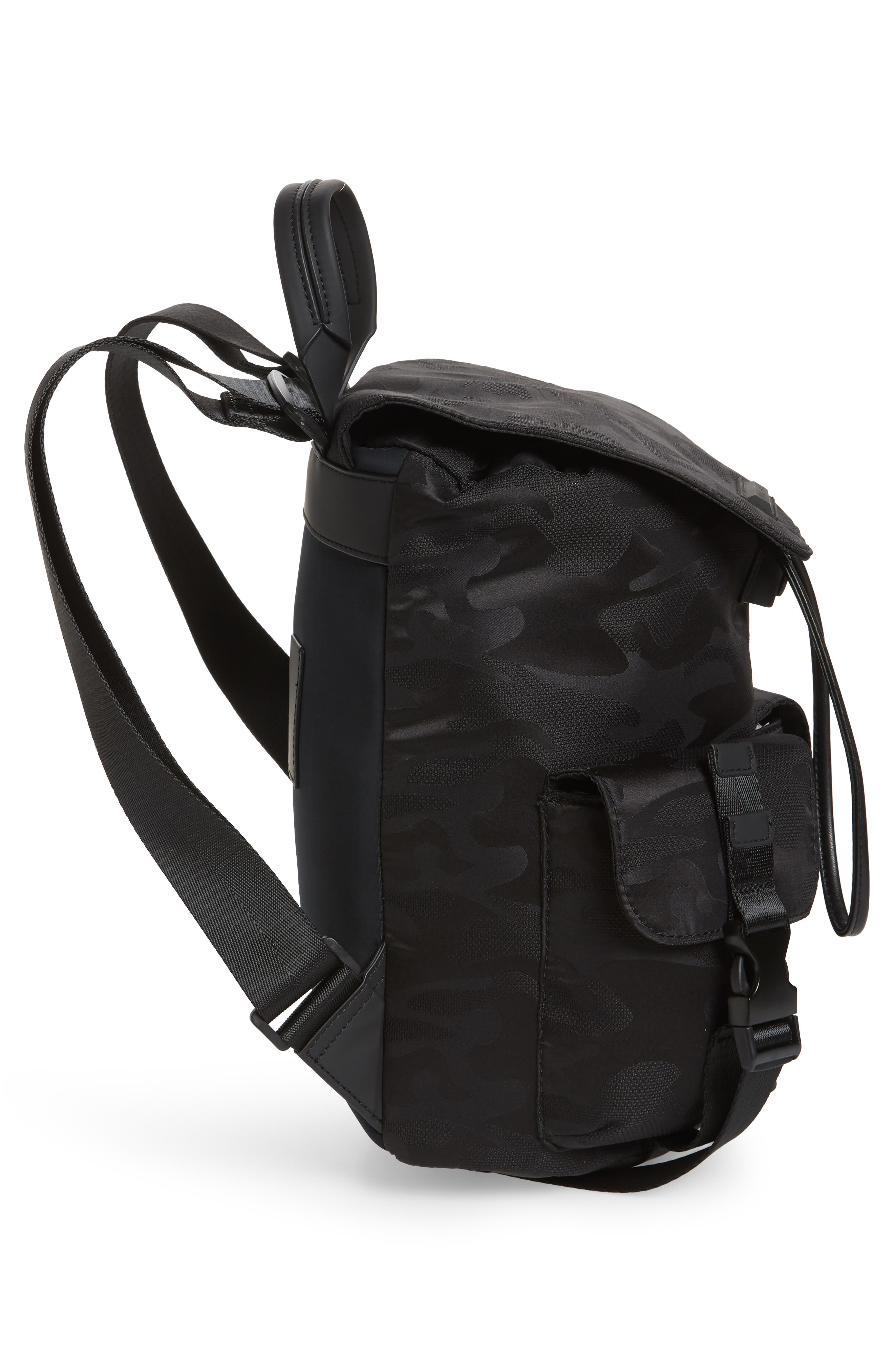Parker Water Resistant Backpack,                             Alternate thumbnail 5, color,                             Black Camo