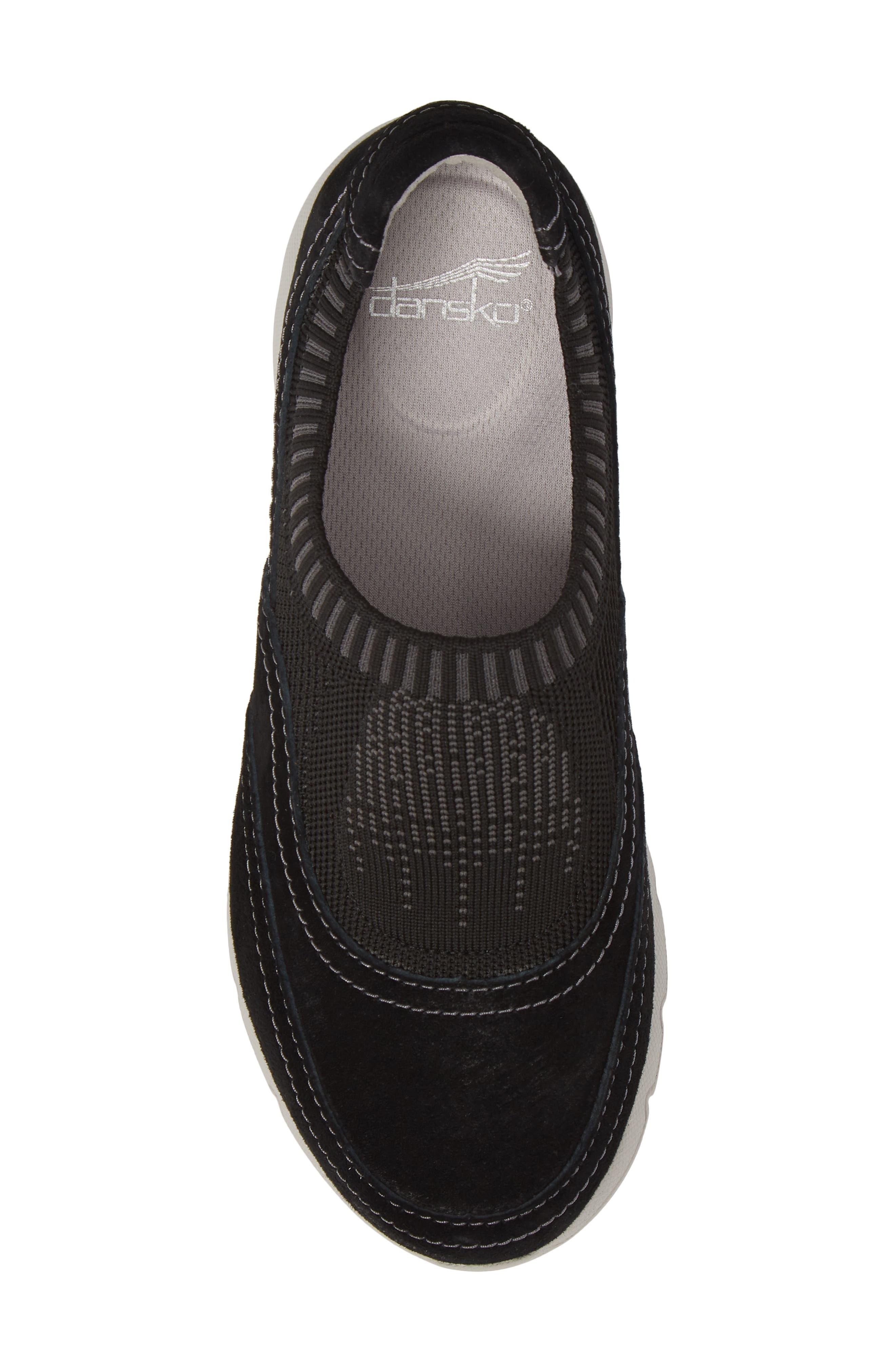 Alice Slip-On Sneaker,                             Alternate thumbnail 3, color,                             Black Suede