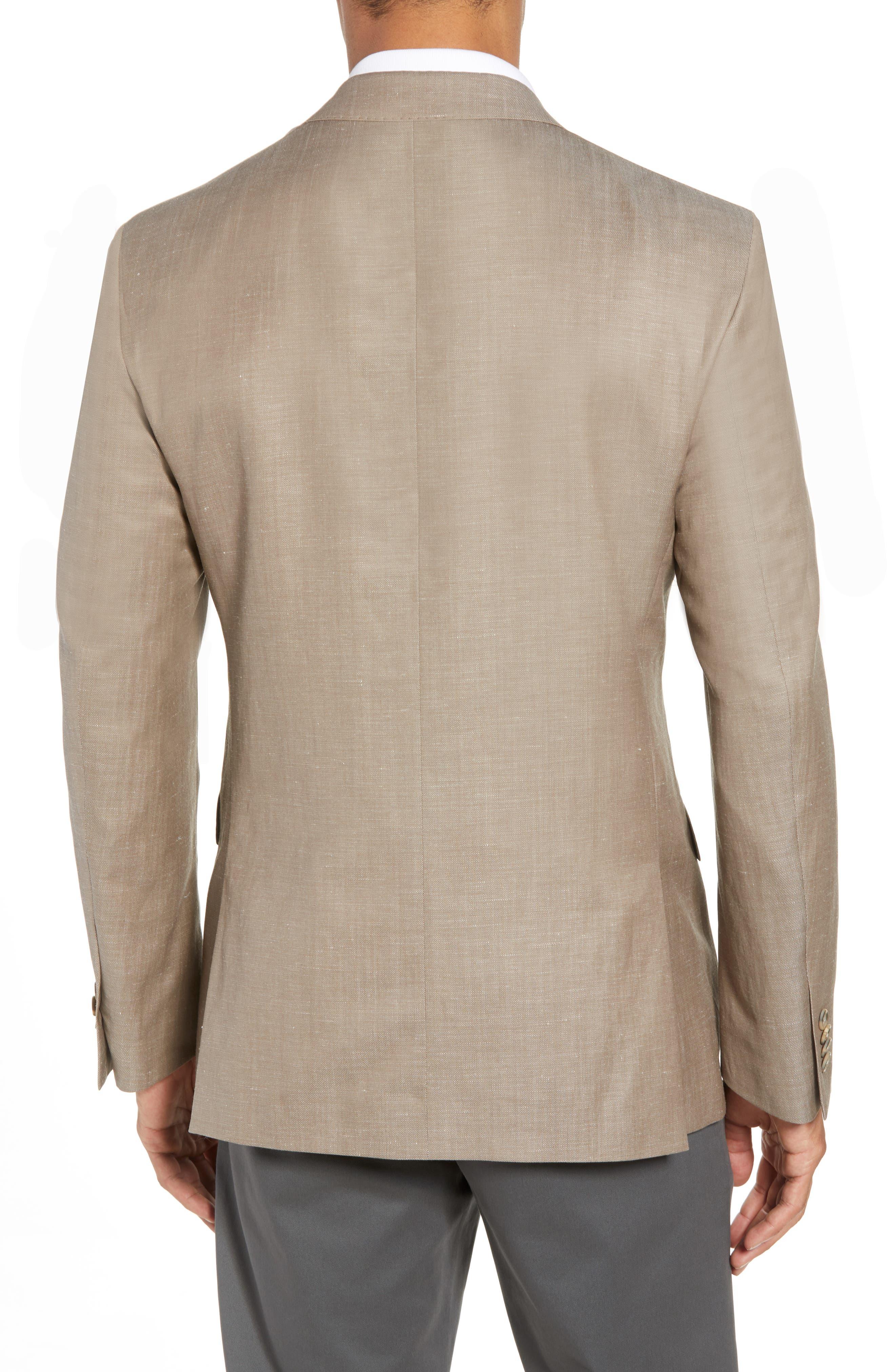 Traditional Fit Wool & Linen Blazer,                             Alternate thumbnail 2, color,                             Tan