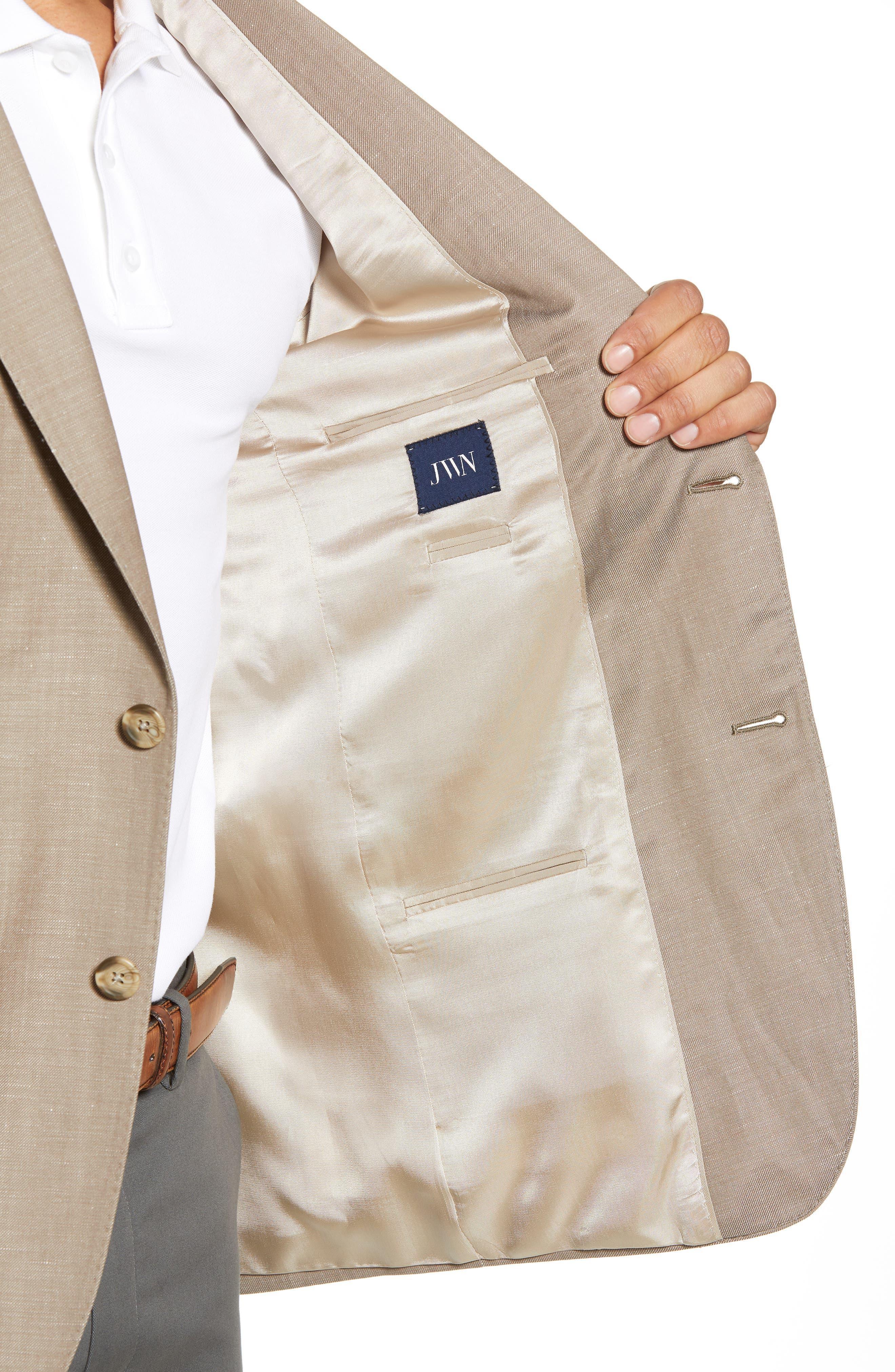 Traditional Fit Wool & Linen Blazer,                             Alternate thumbnail 5, color,                             Tan