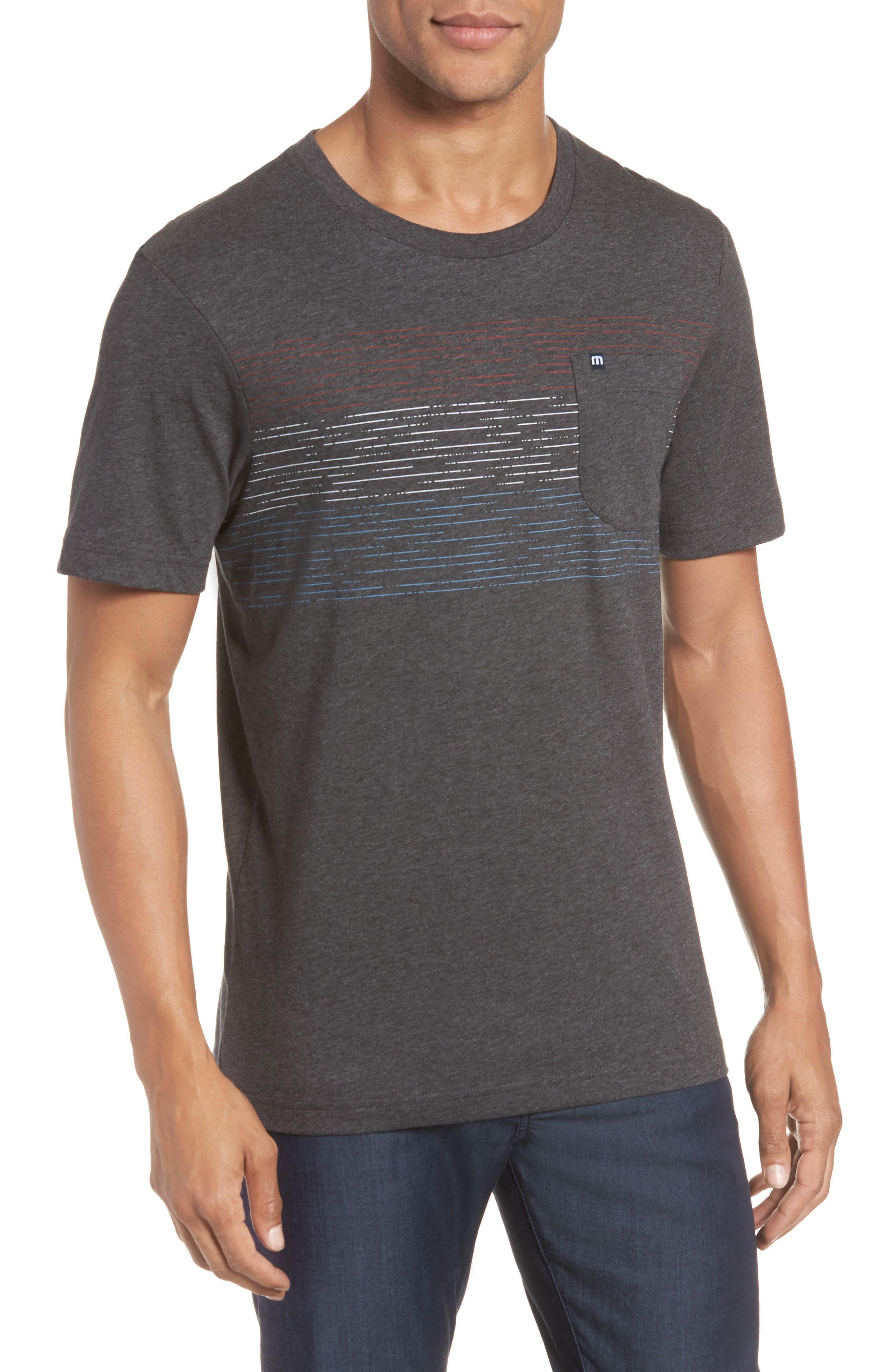 Flogging Print Pocket T-Shirt,                         Main,                         color, Heather Grey Pinstripe