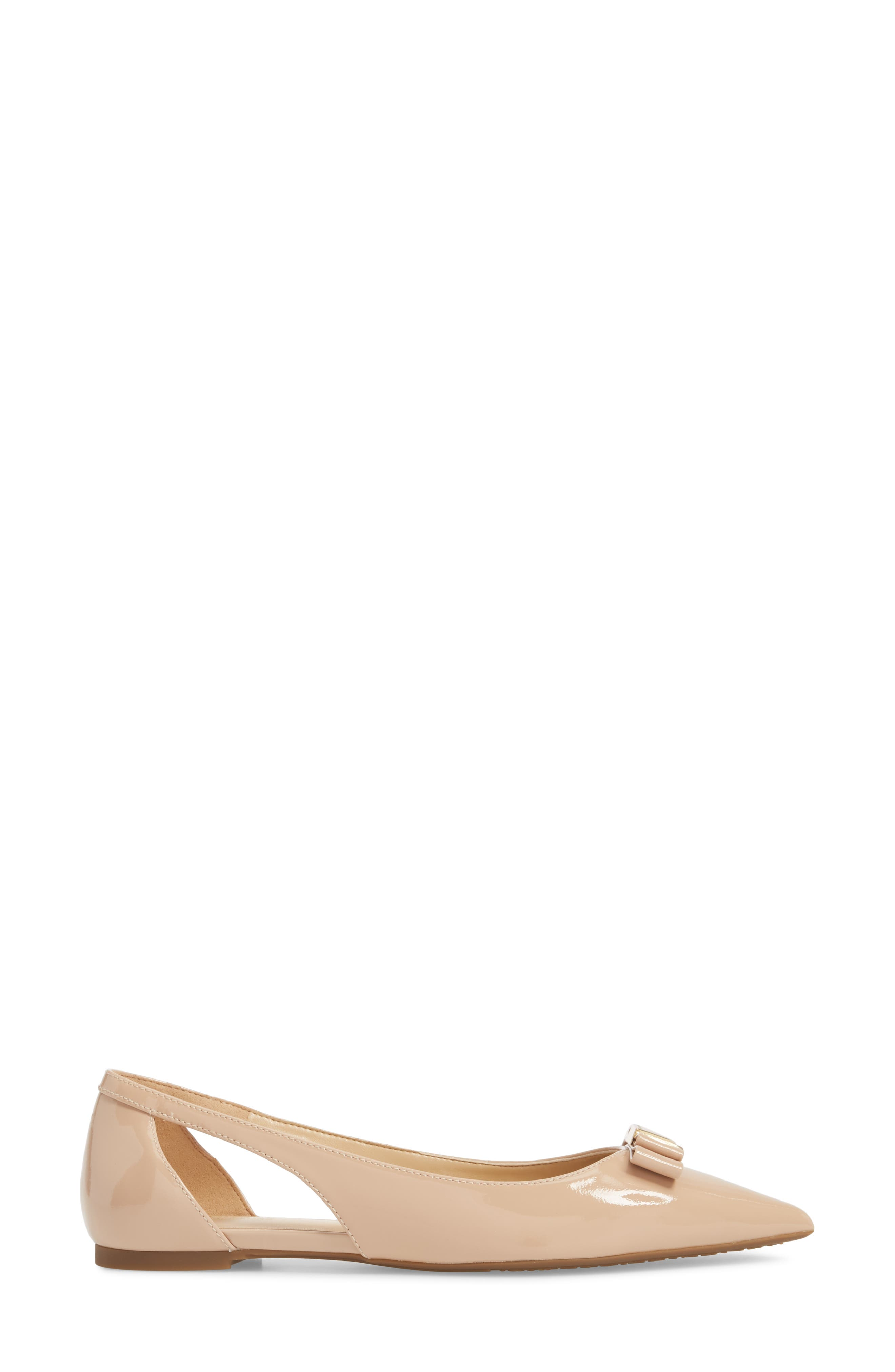 Carlson Cutout Flat,                             Alternate thumbnail 5, color,                             Light Blush Patent Leather
