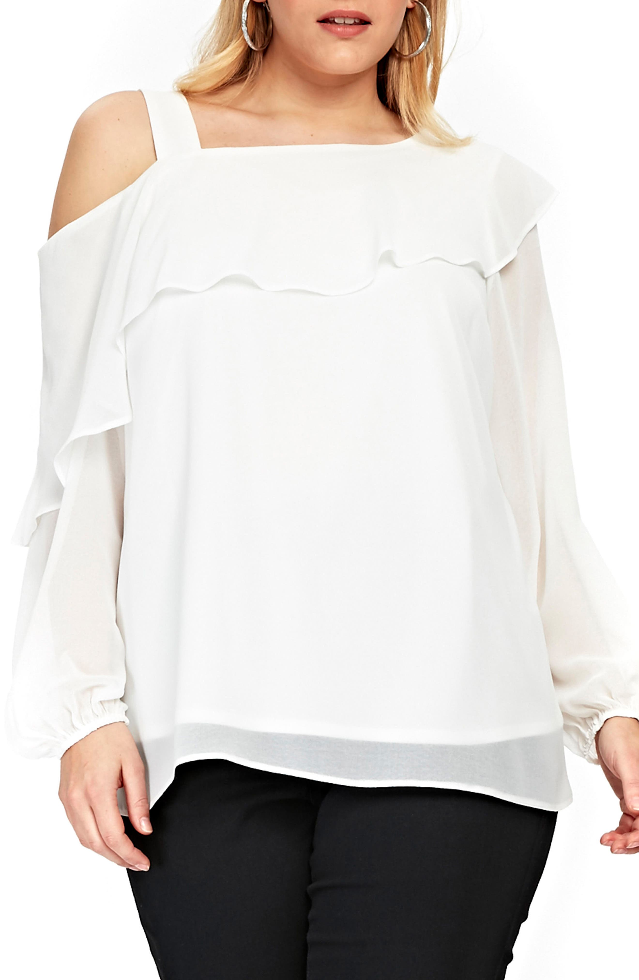 One-Shoulder Top,                         Main,                         color, Ivory