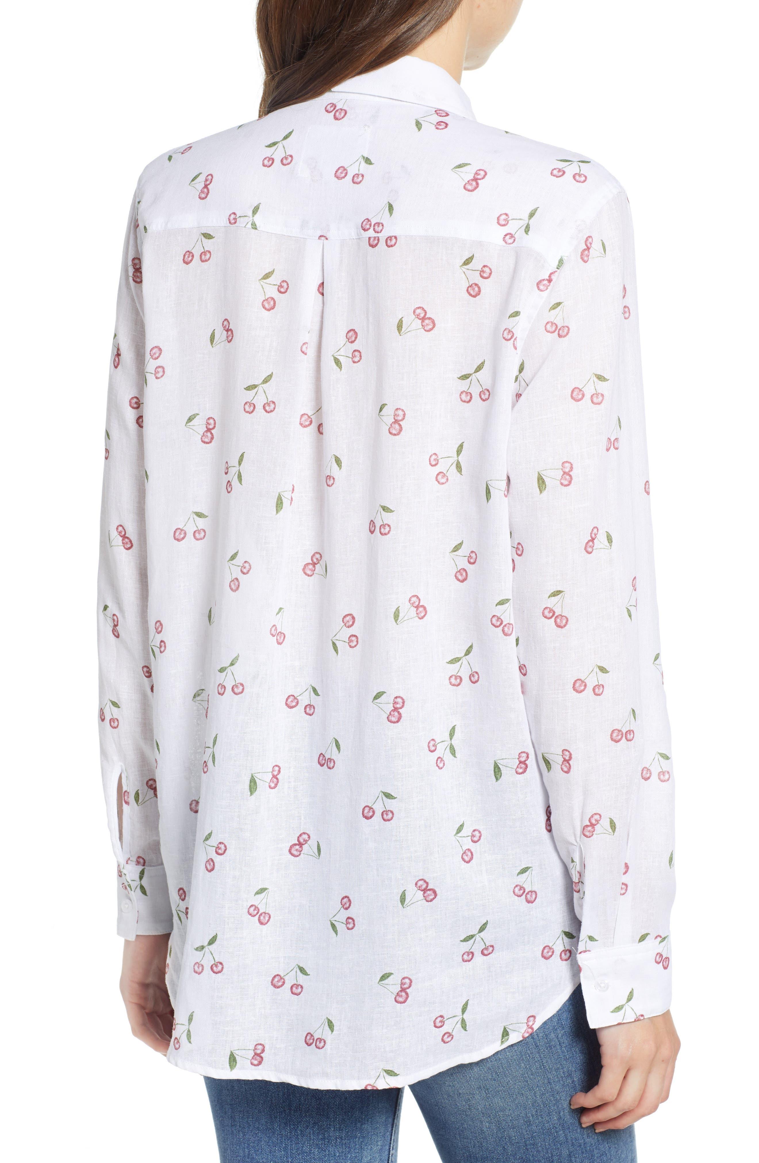 Charli Shirt,                             Alternate thumbnail 2, color,                             White Cherries