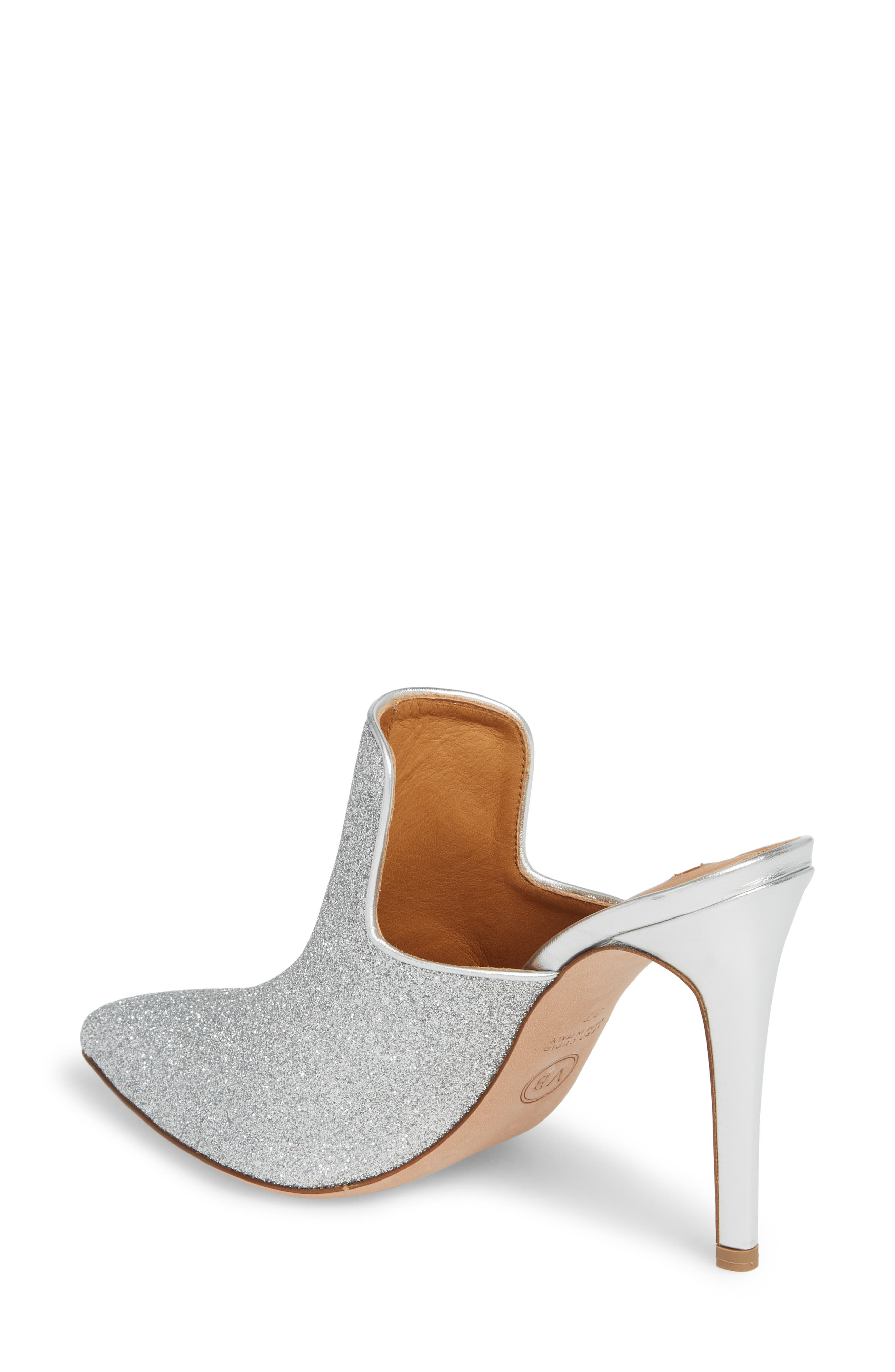 Penn Pointy Toe Mule,                             Alternate thumbnail 2, color,                             Silver