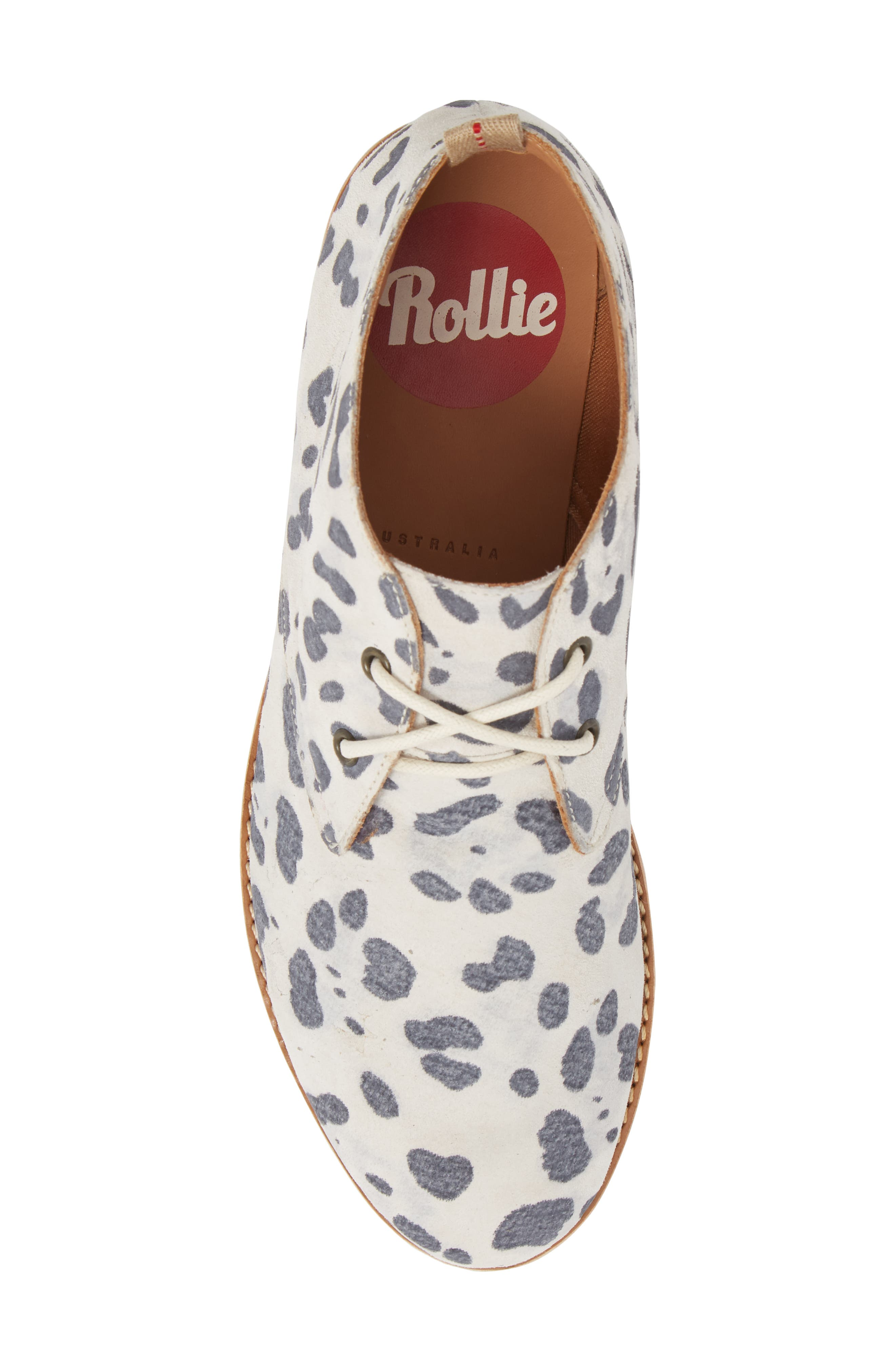 Chukka Bootie,                             Alternate thumbnail 3, color,                             Grey Leopard Suede