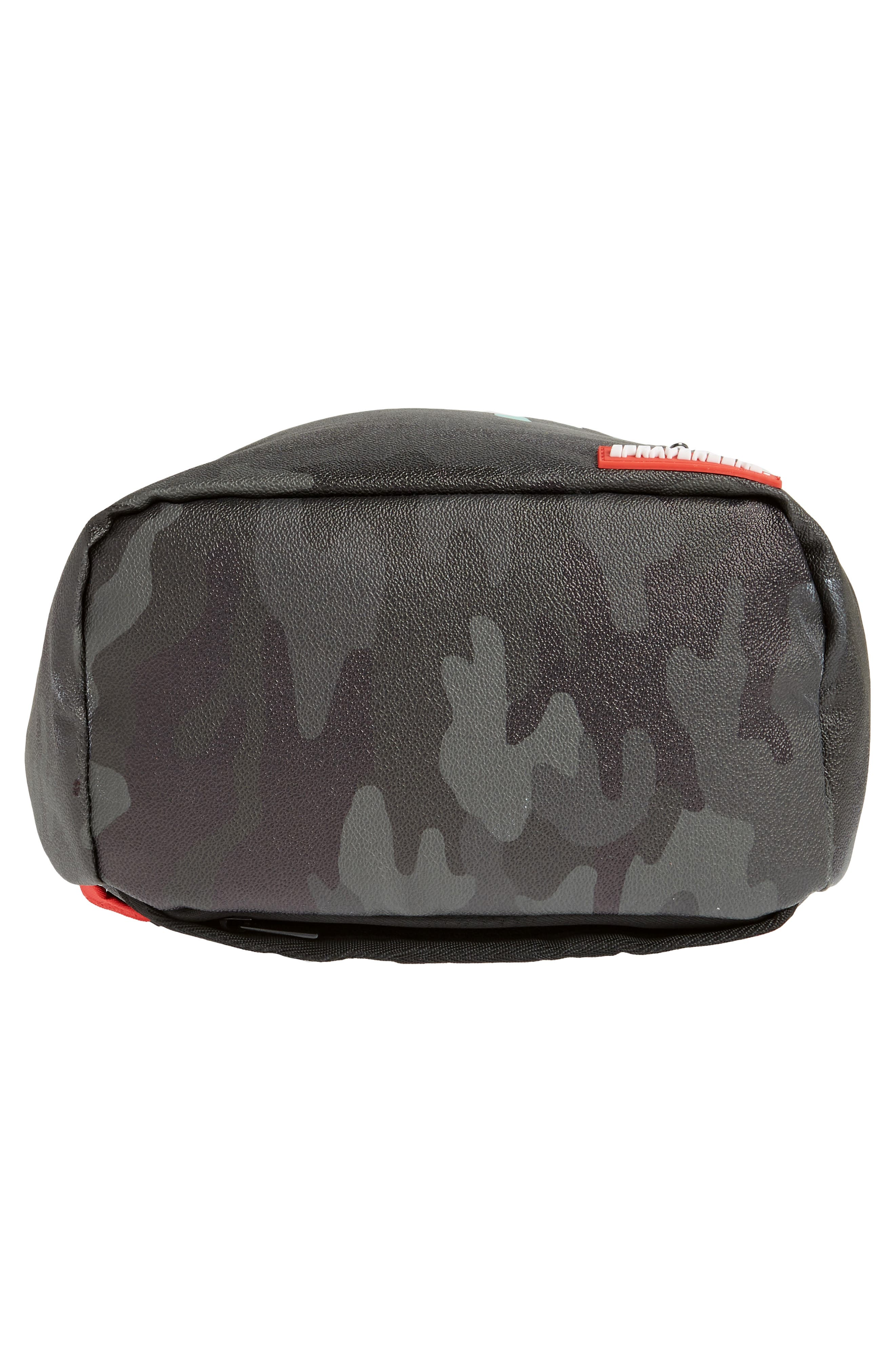 Tiff Drips Print Backpack,                             Alternate thumbnail 6, color,                             Camo/ Teal