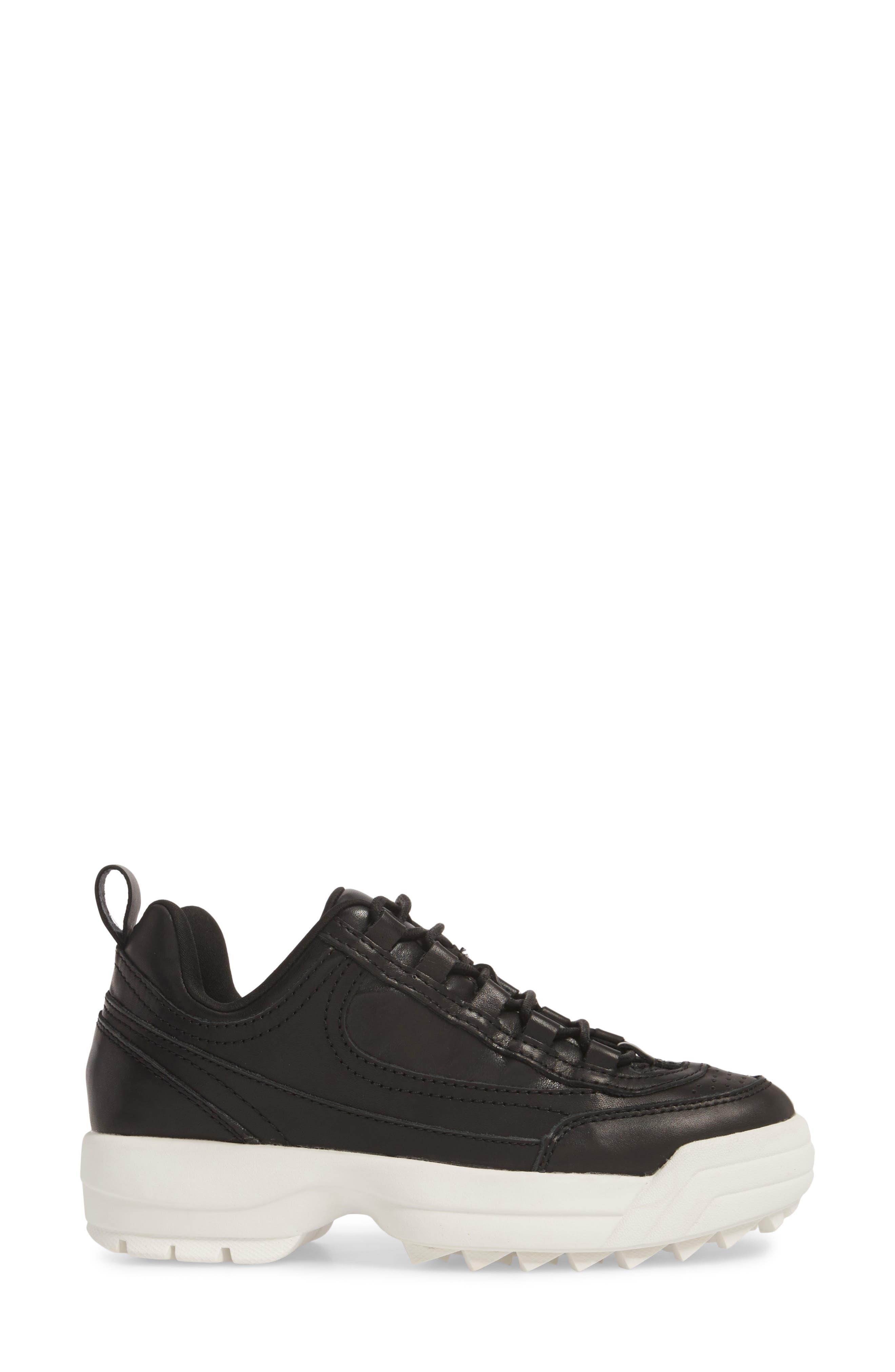 Sidekick Platform Sneaker,                             Alternate thumbnail 6, color,                             Black Leather