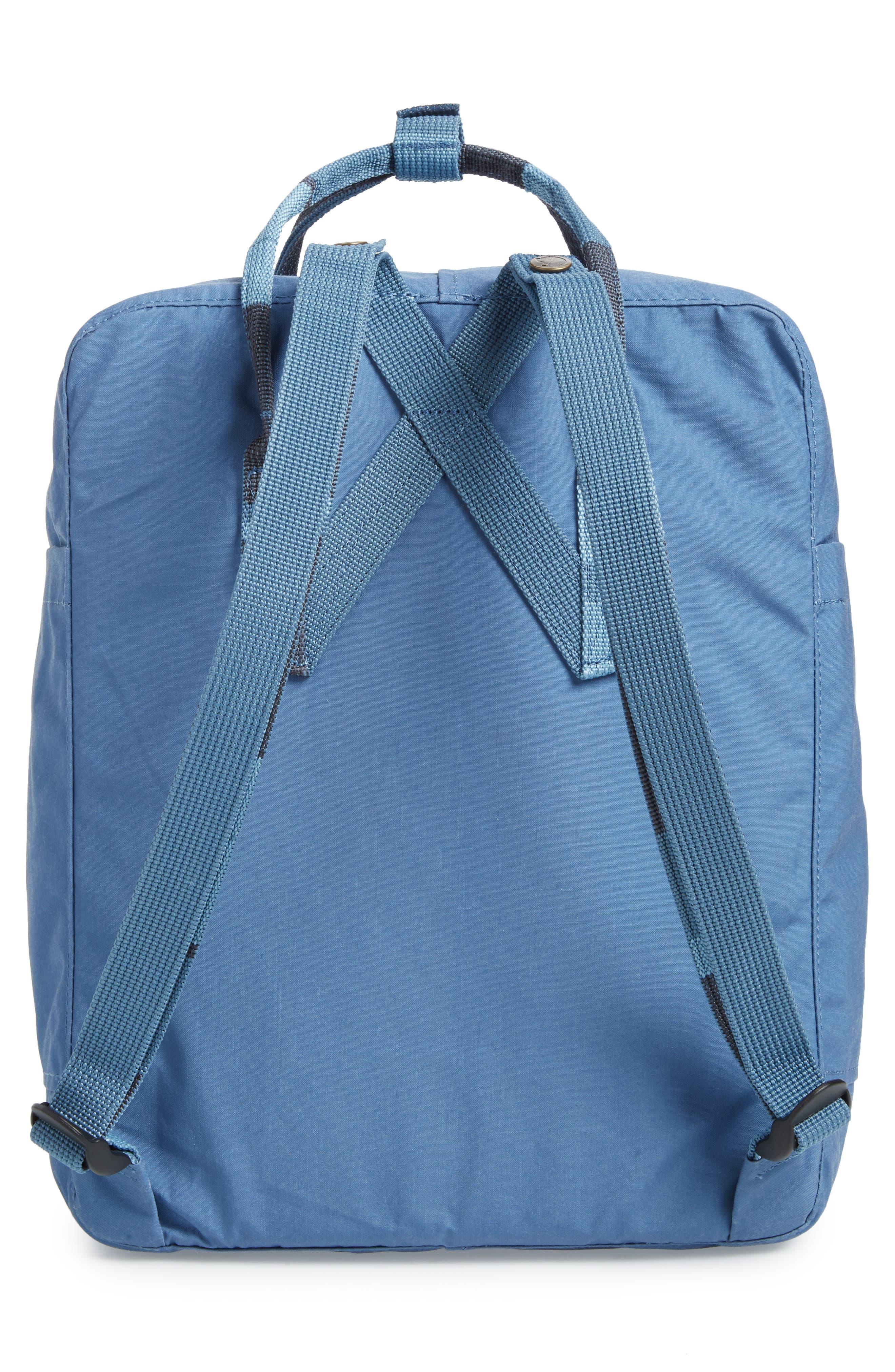 'Kånken' Water Resistant Backpack,                             Alternate thumbnail 3, color,                             Blue Ridge/ Random Blocked