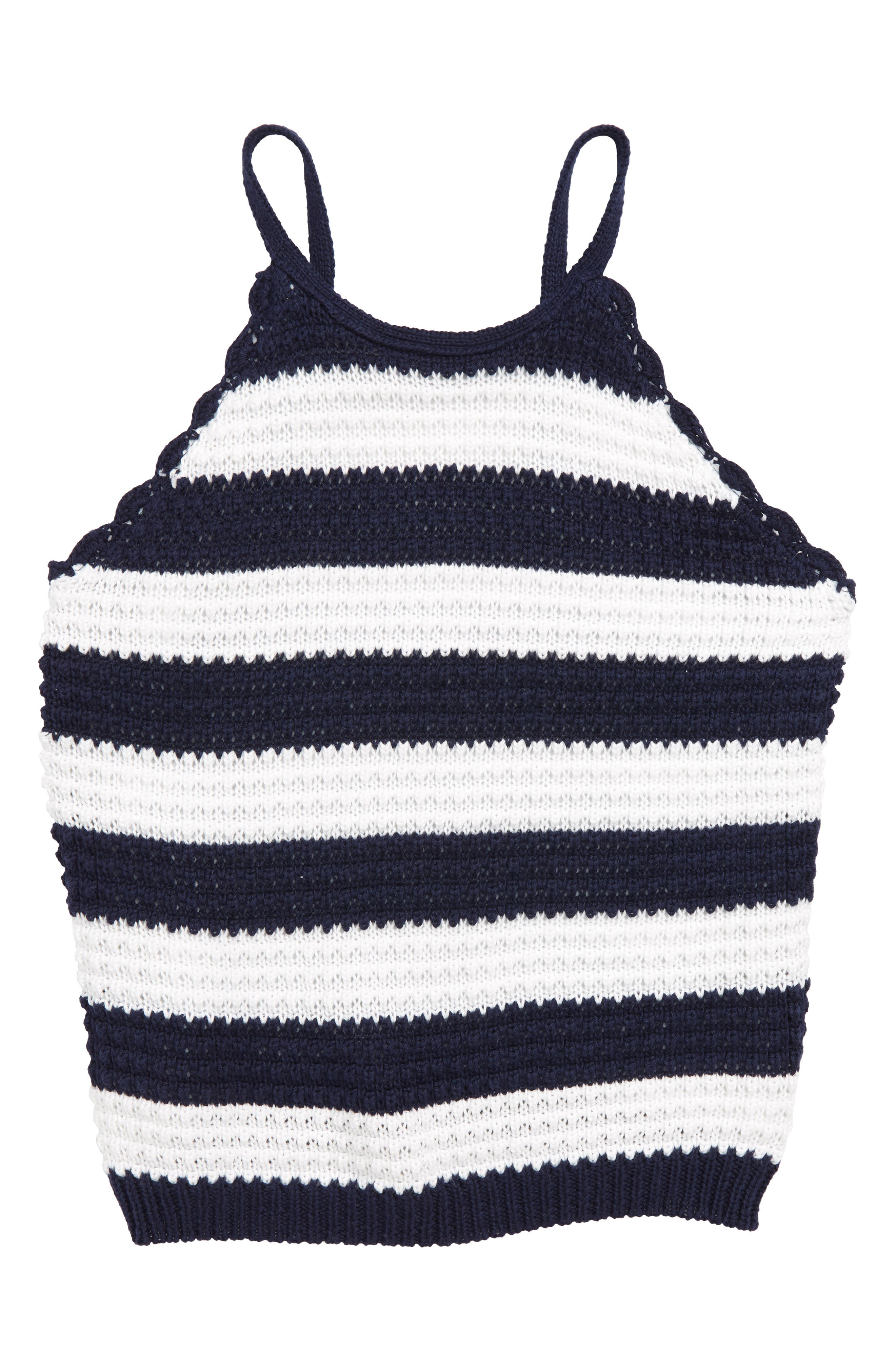 Stripe Halter Sweater,                             Main thumbnail 1, color,                             Navy/ White