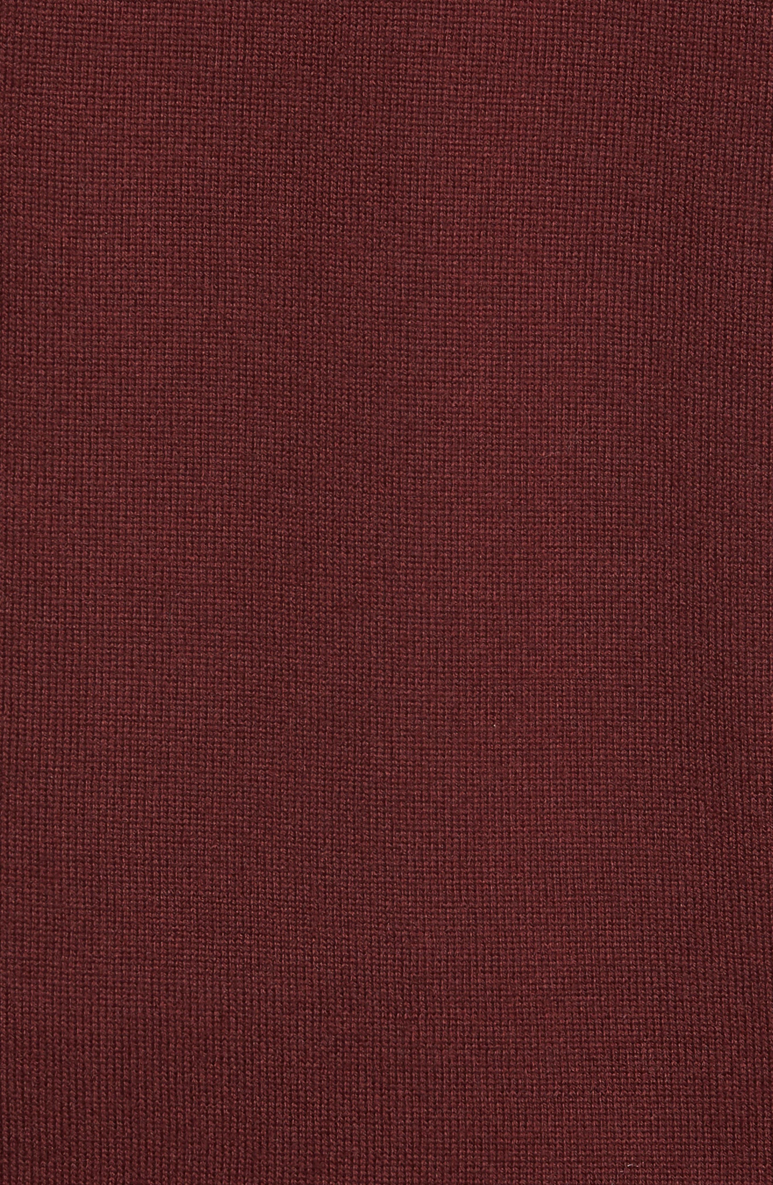 Merino Button Front Sweater Vest,                             Alternate thumbnail 4, color,                             Burgundy Royale