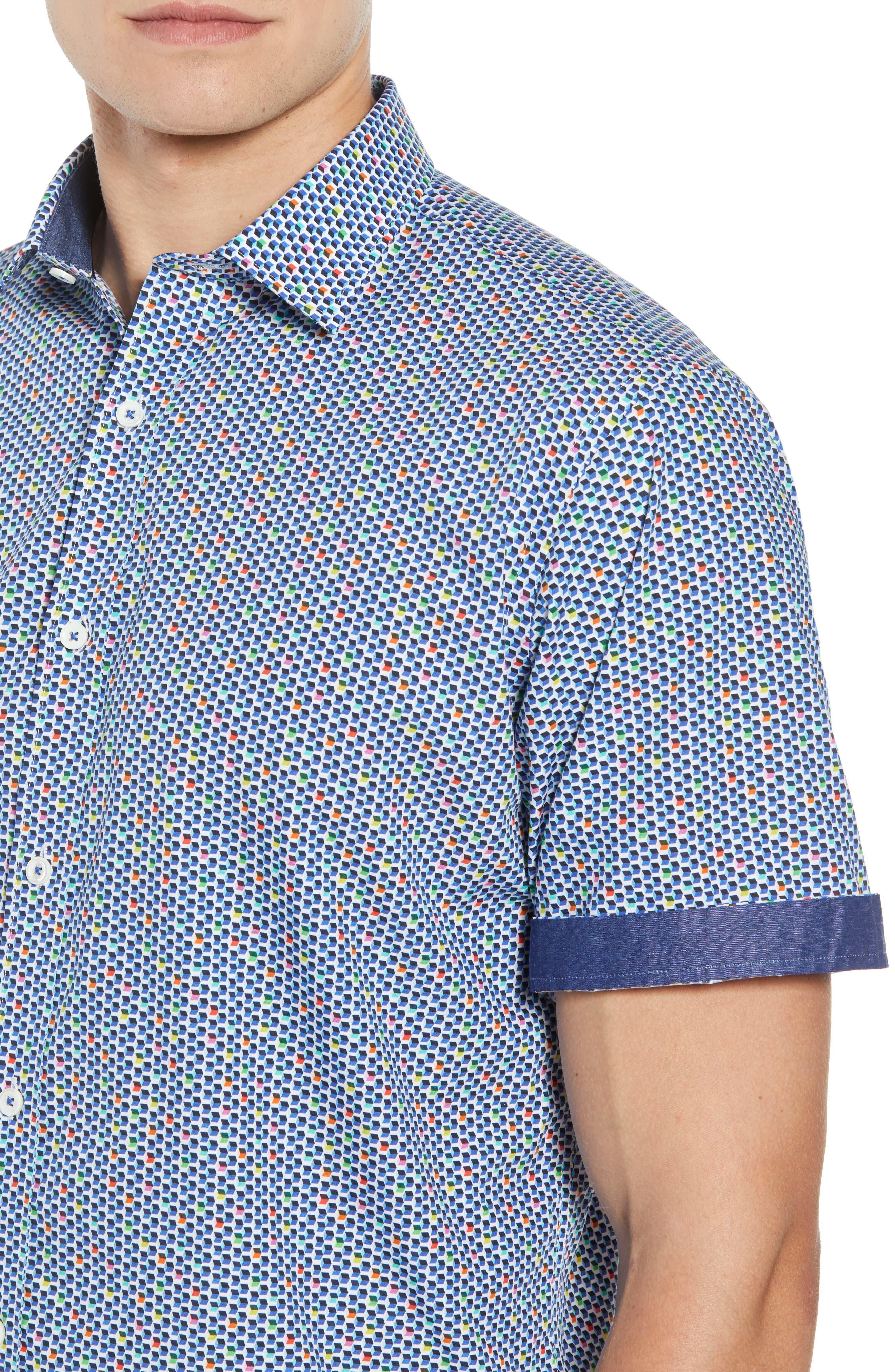 Classic Fit Print Sport Shirt,                             Alternate thumbnail 2, color,                             Candy