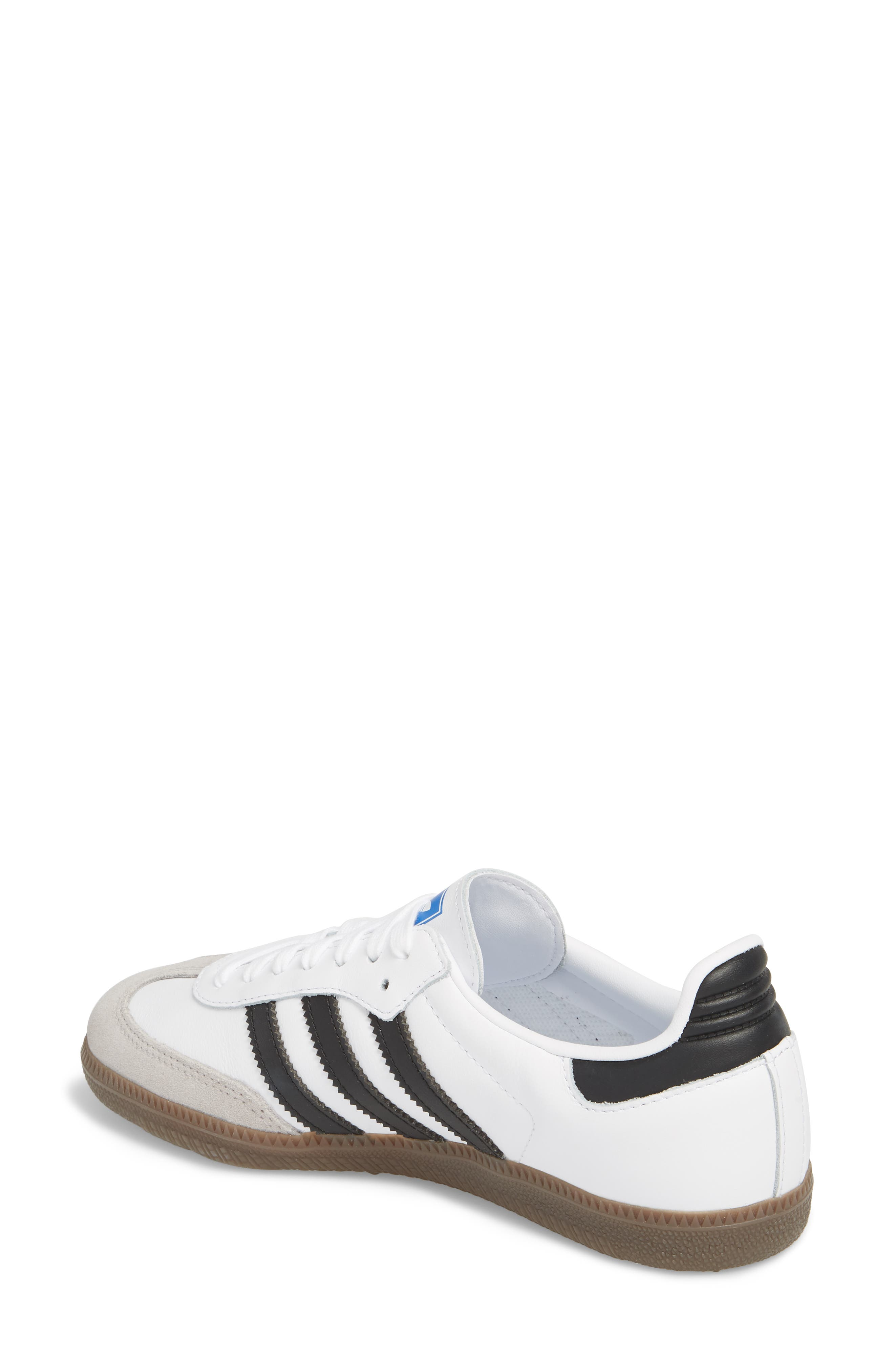 'Samba' Sneaker,                             Alternate thumbnail 2, color,                             White/ Black/ Clear Granite