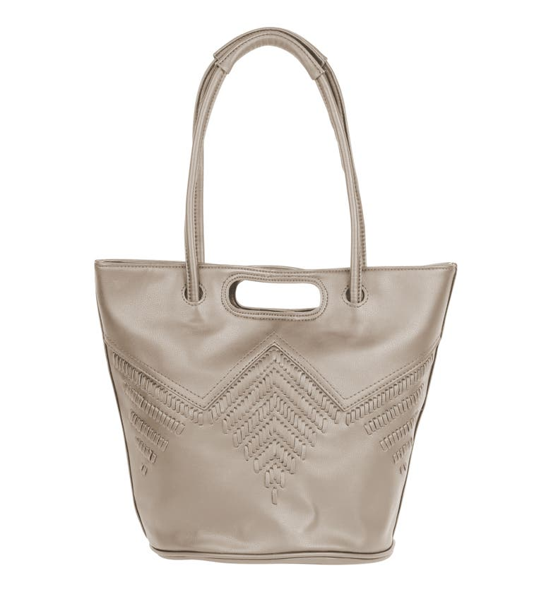 Urban Originals STYLE VEGAN LEATHER TOTE BAG - BEIGE