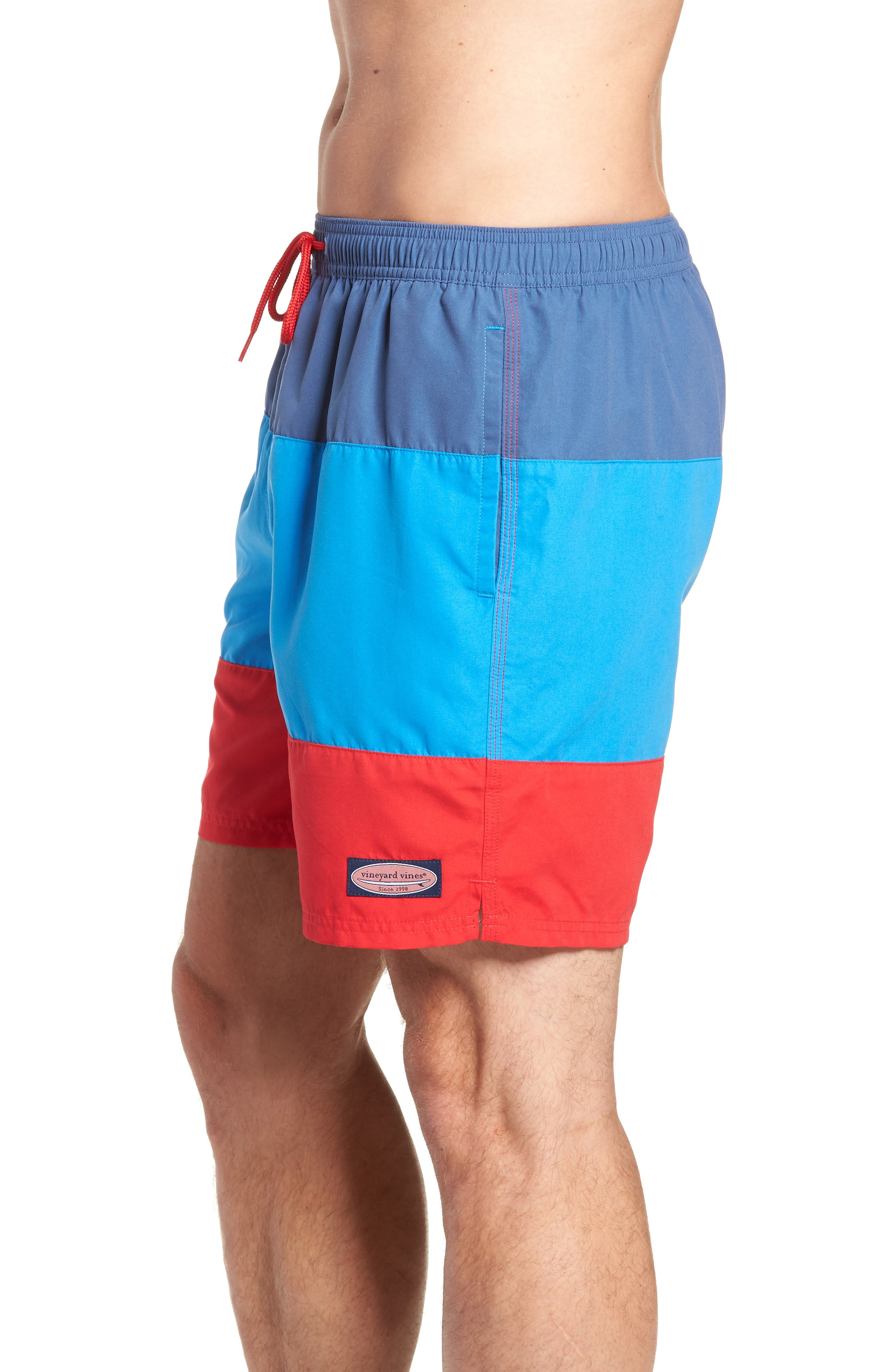 Chappy Pieced Swim Trunks,                             Alternate thumbnail 3, color,                             Moonshine