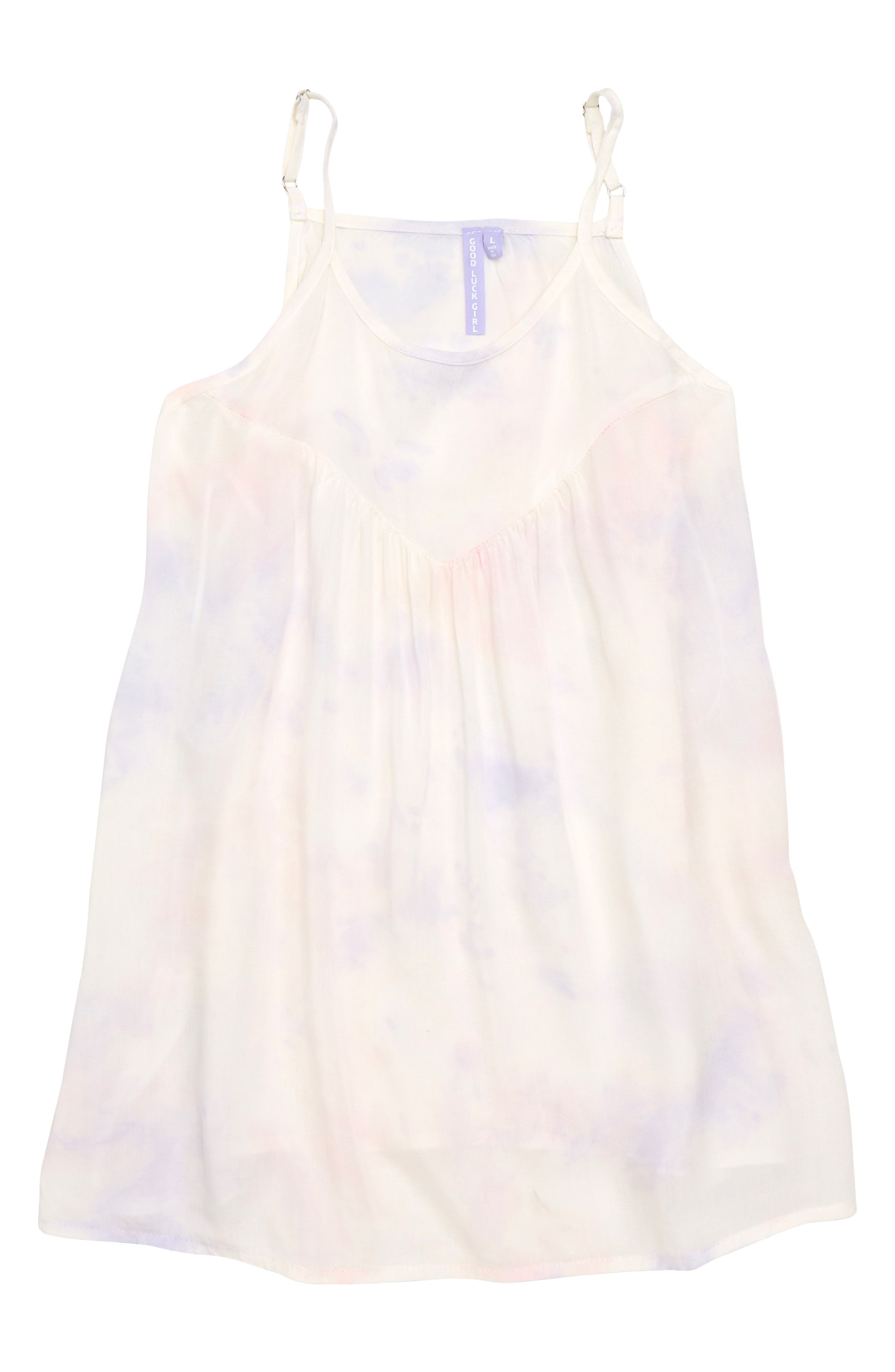 Crystal Tie Dye Swing Tank,                             Main thumbnail 1, color,                             White