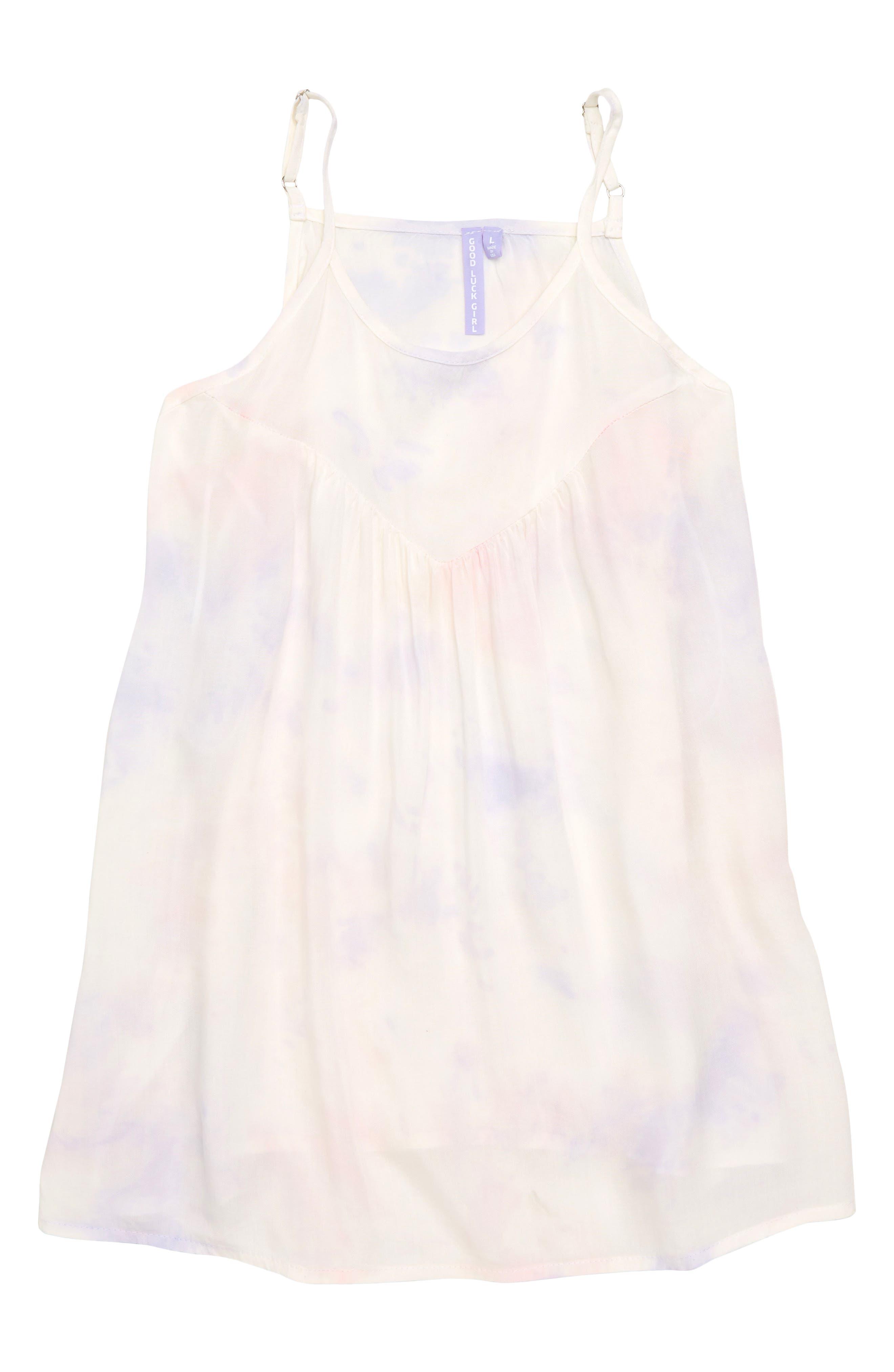 Crystal Tie Dye Swing Tank,                         Main,                         color, White